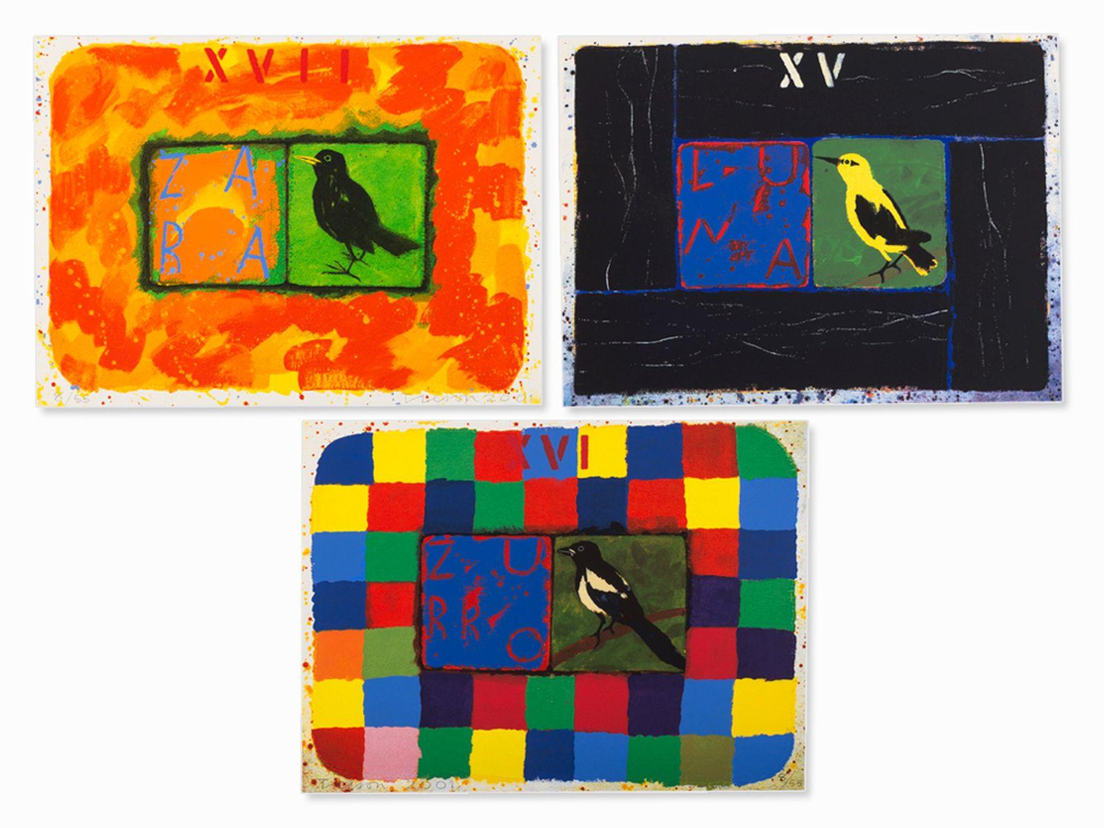 #21 Joe Tilson, Conjunctions, 3 Serigraphs in Colors, 2001 | Joe Tilson (geb. 1928) , Conjunctions, 3 Farbserigrafien, 2001 Image