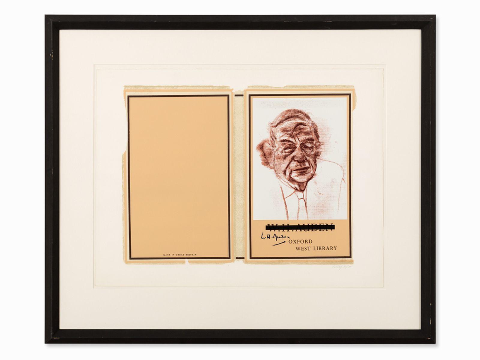 #3 R.B. Kitaj (1887-1948), W.H. Auden, Color Serigraph, 1969 | R.B. Kitaj (1887-1948), W.H. Auden, Farbserigrafie, 1969 Image