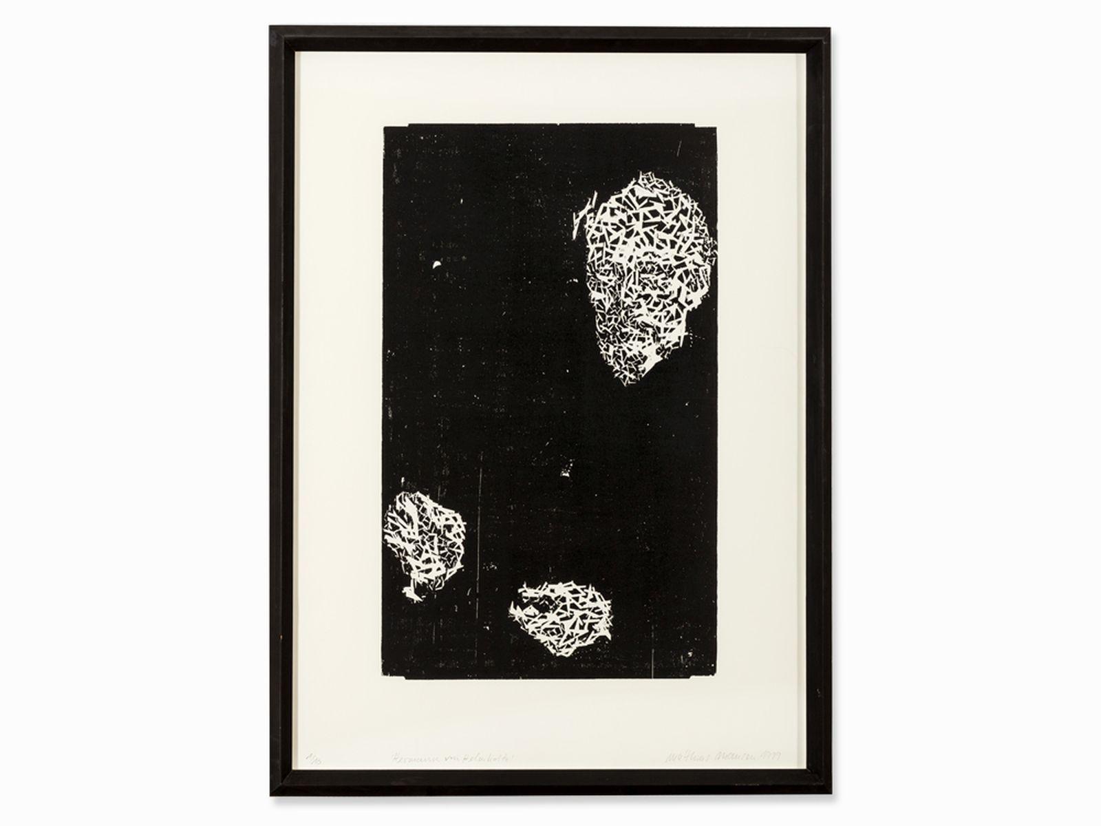 #44 Matthias Mansen, Hermann von Helmholtz, Woodcut, 1999 | Matthias Mansen Image