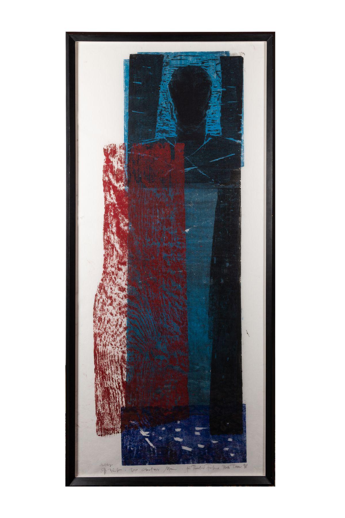 #46 Ruth Tesmar (born 1951), Effi Briest, color woodcut, 1998 | Ruth Tesmar (geb. 1951), Effi Briest, Farbholzschnitt, 1998 Image