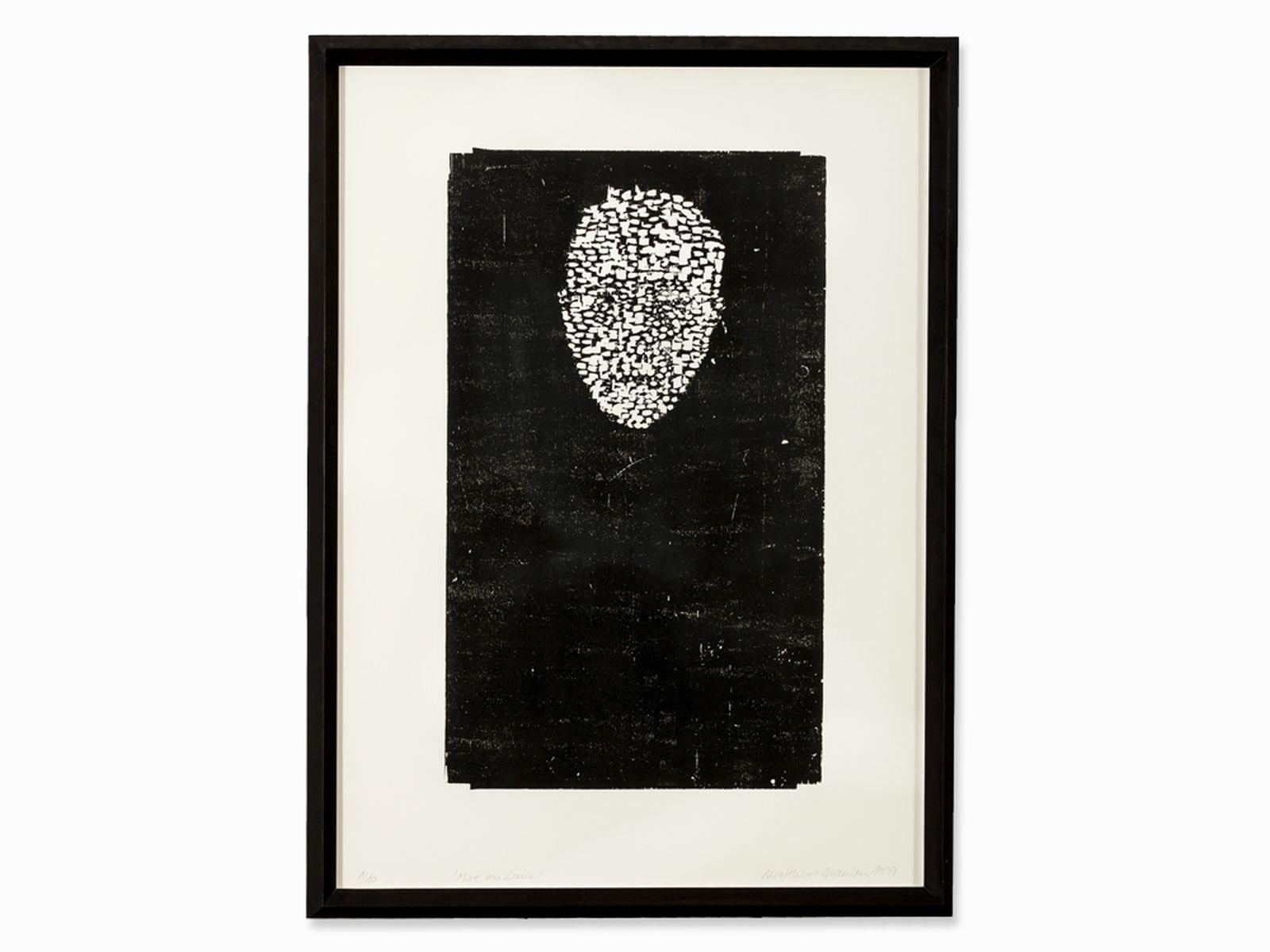 #50 Matthias Mansen (b. 1958), Max von Laue, Woodcut, 1999   Matthias Mansen (geb. 1958) Image