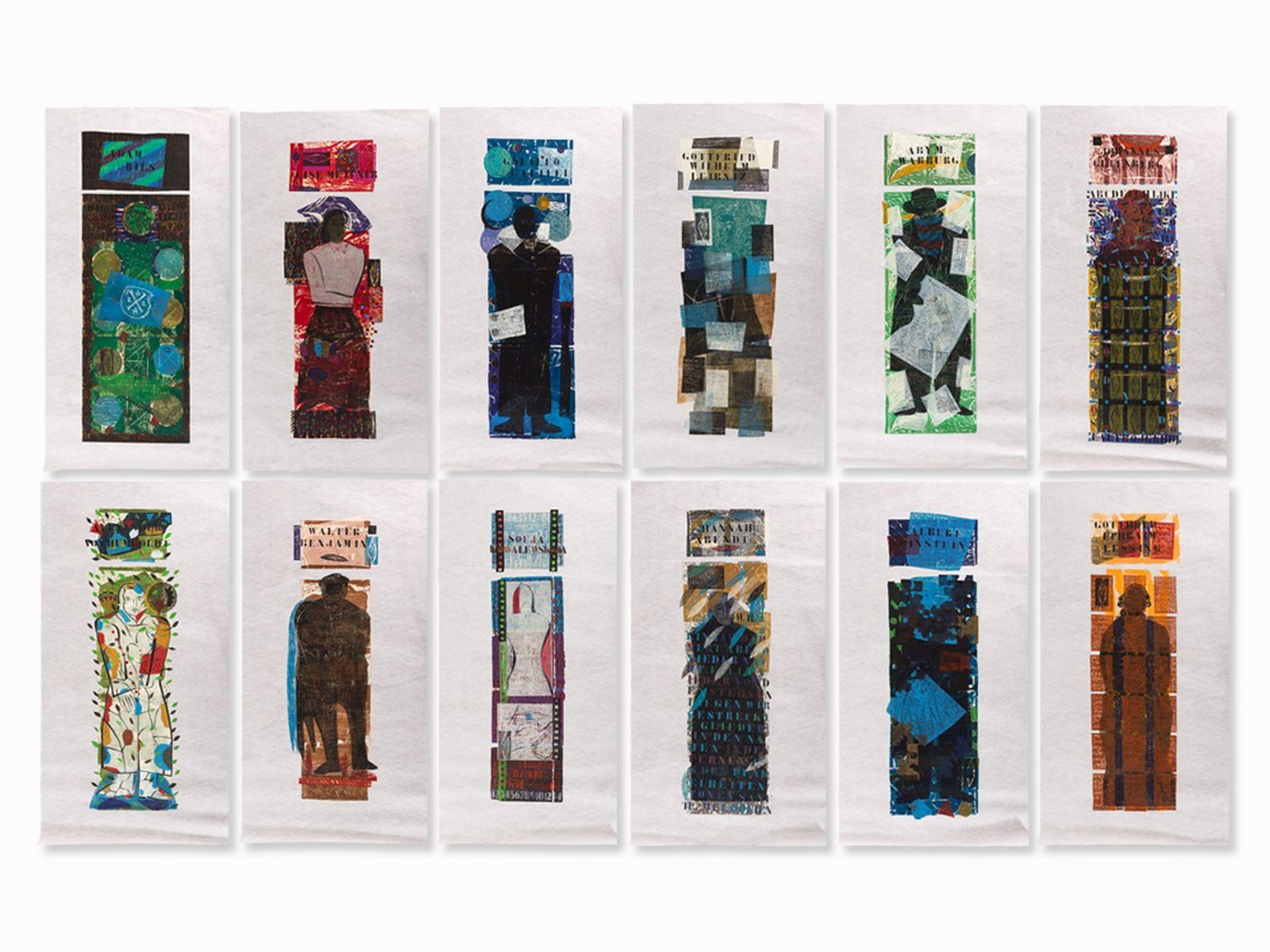 #6 Ruth Tesmar, Symposion, 12 Woodcuts , 1999/2000 | Ruth Tesmar(* 8. April 1951 in Potsdam) , Symposion, 12 Farbholzschnitte, 1999/2000 Image