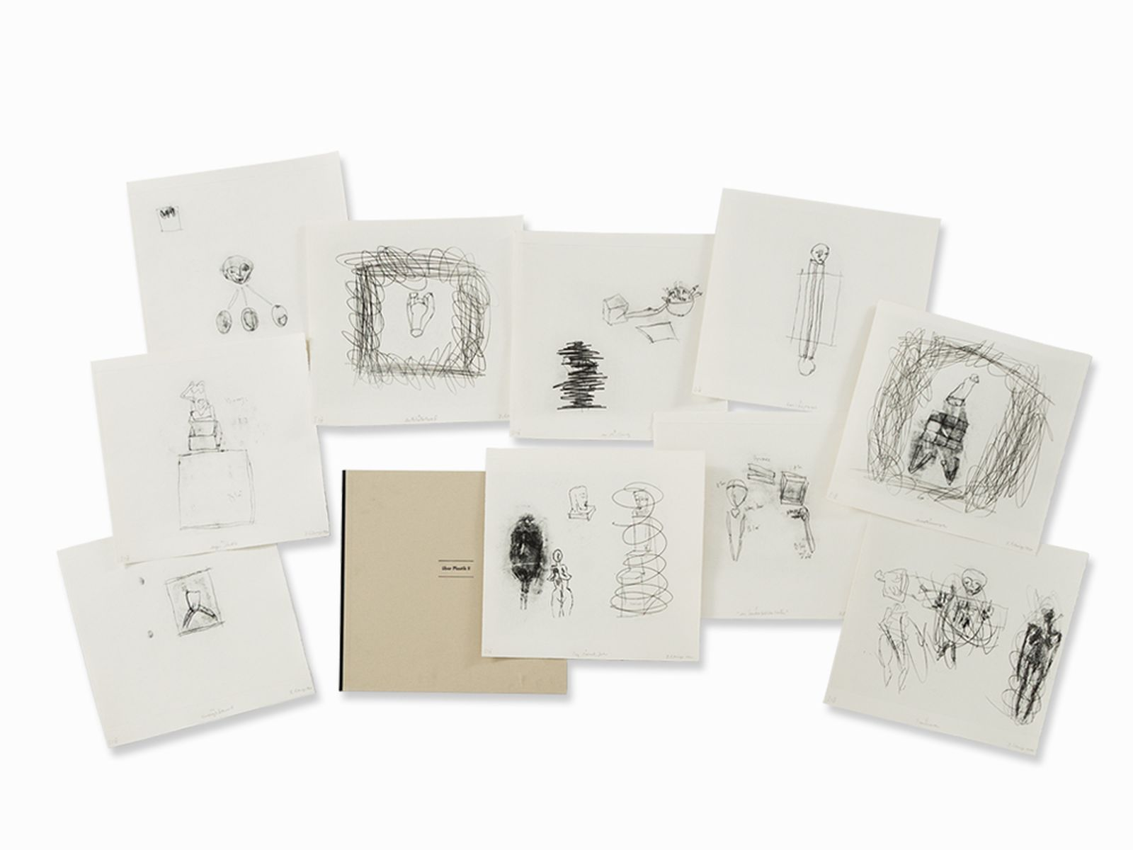 #98 Dietrich Klinge, über Plastik I, 10 Etchings, 1991 | Dietrich Klinge (geb. 1954) , über Plastik II, 10 Radierungen, 1991 Image