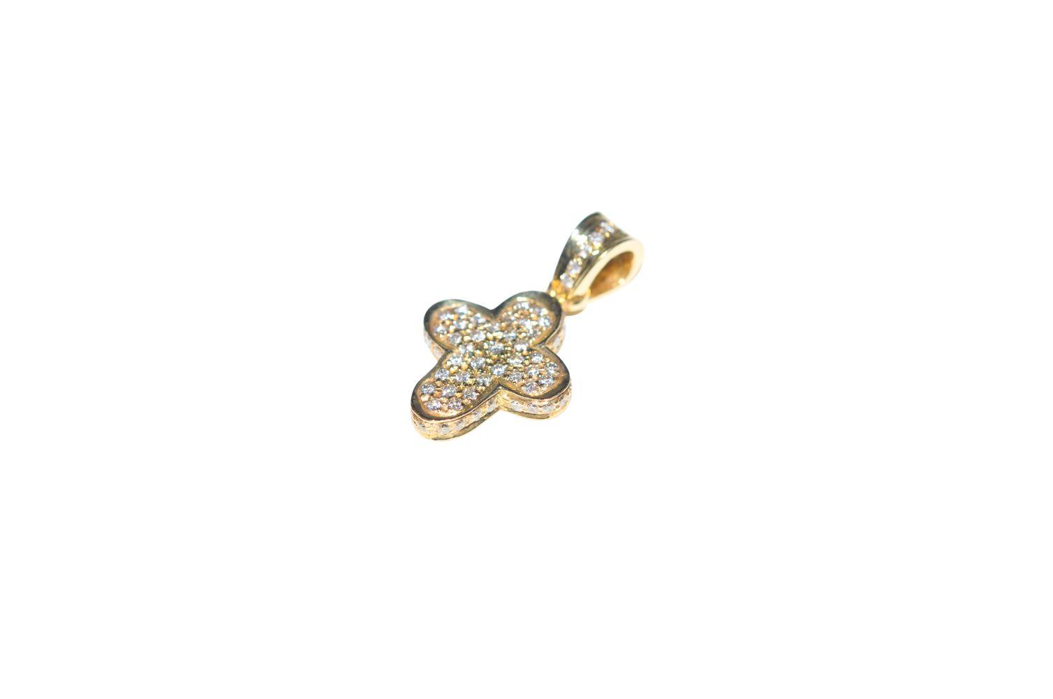 #100 Diamond cross pendant | Diamant-Kreuz-Anhänger Image