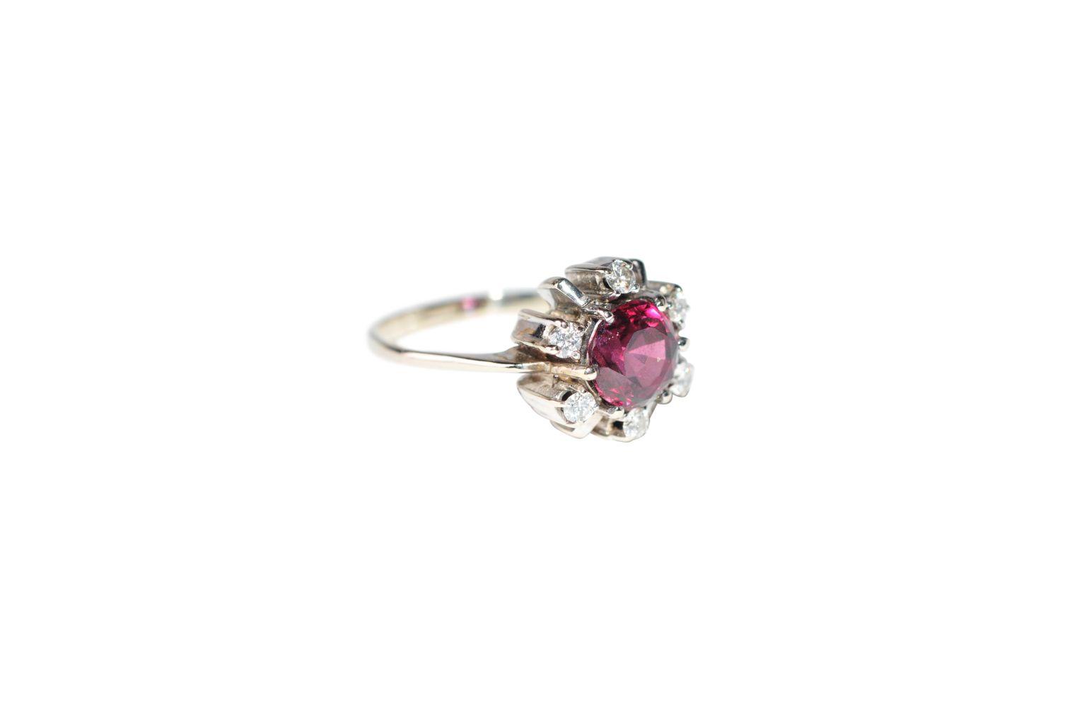 #135 Brilliant ring with tourmaline | Brillantring mit Turmalin Image