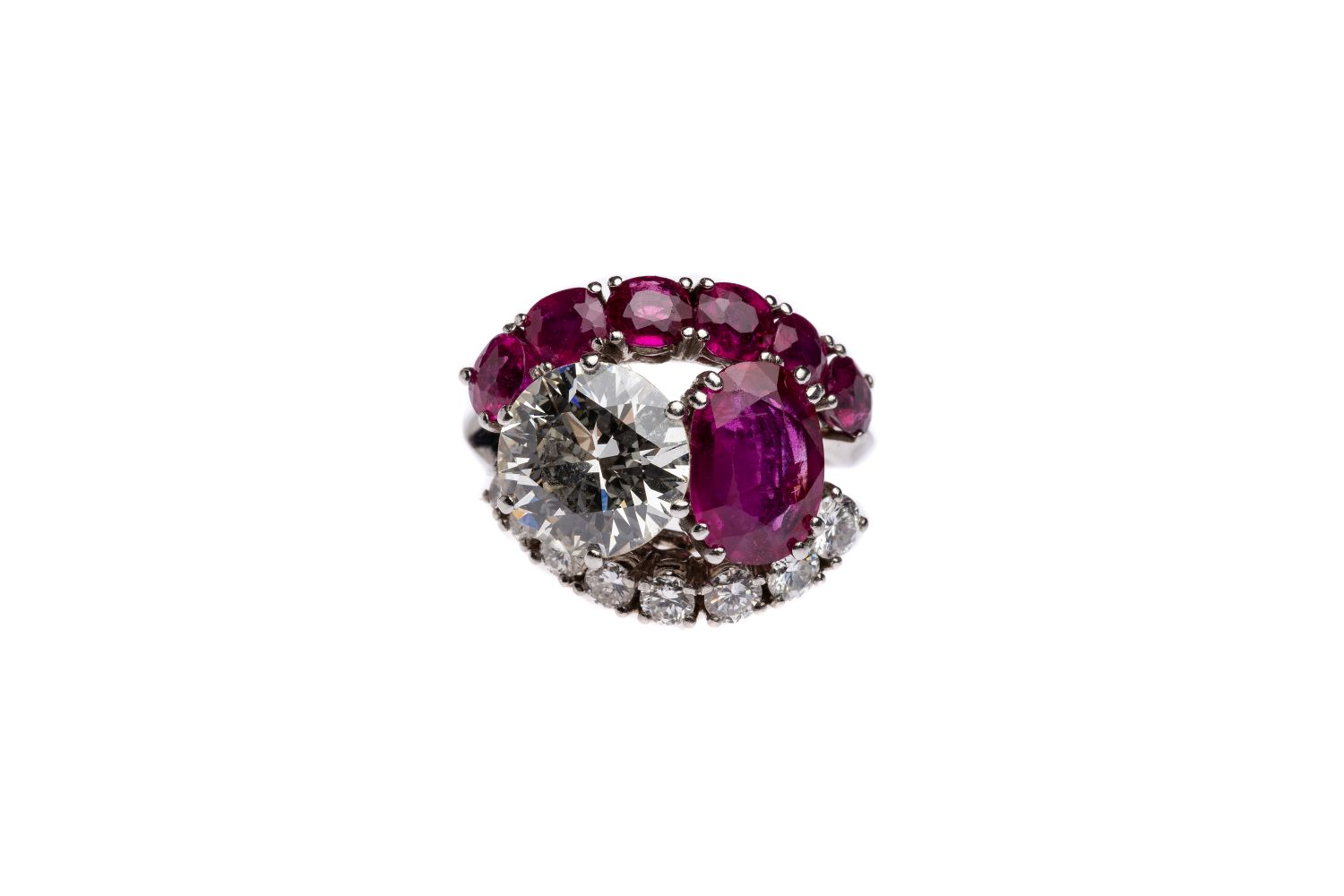 #145 Brilliant ring with ruby | Brillantring mit Rubin Image