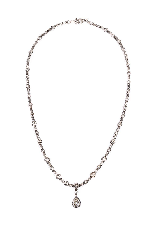 #154 Platinum diamond necklace | Platin-Diamant-Collier Image