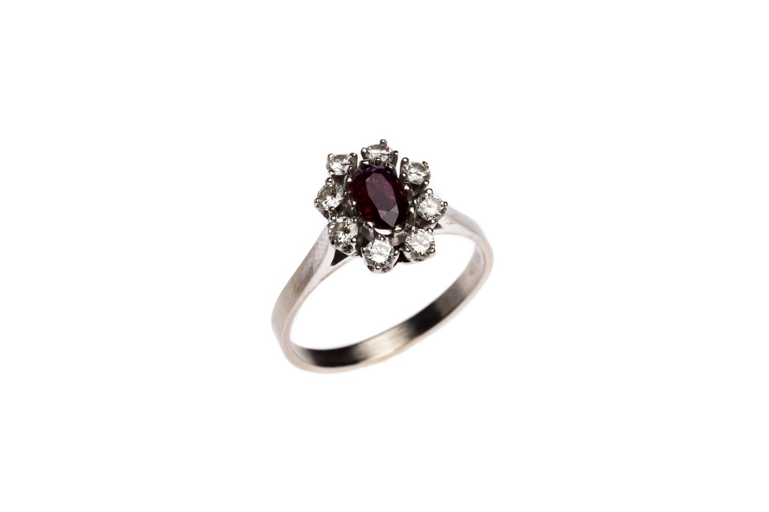 #171 Brilliant ring with ruby | Brillantring mit Rubin Image