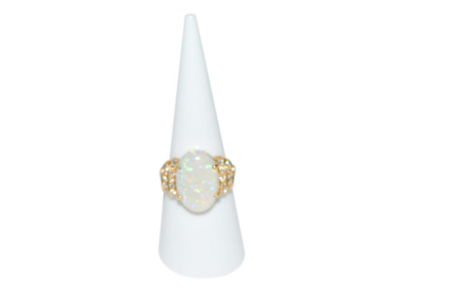 #90 Brilliant ring with opal | Brillantring mit Opal Image