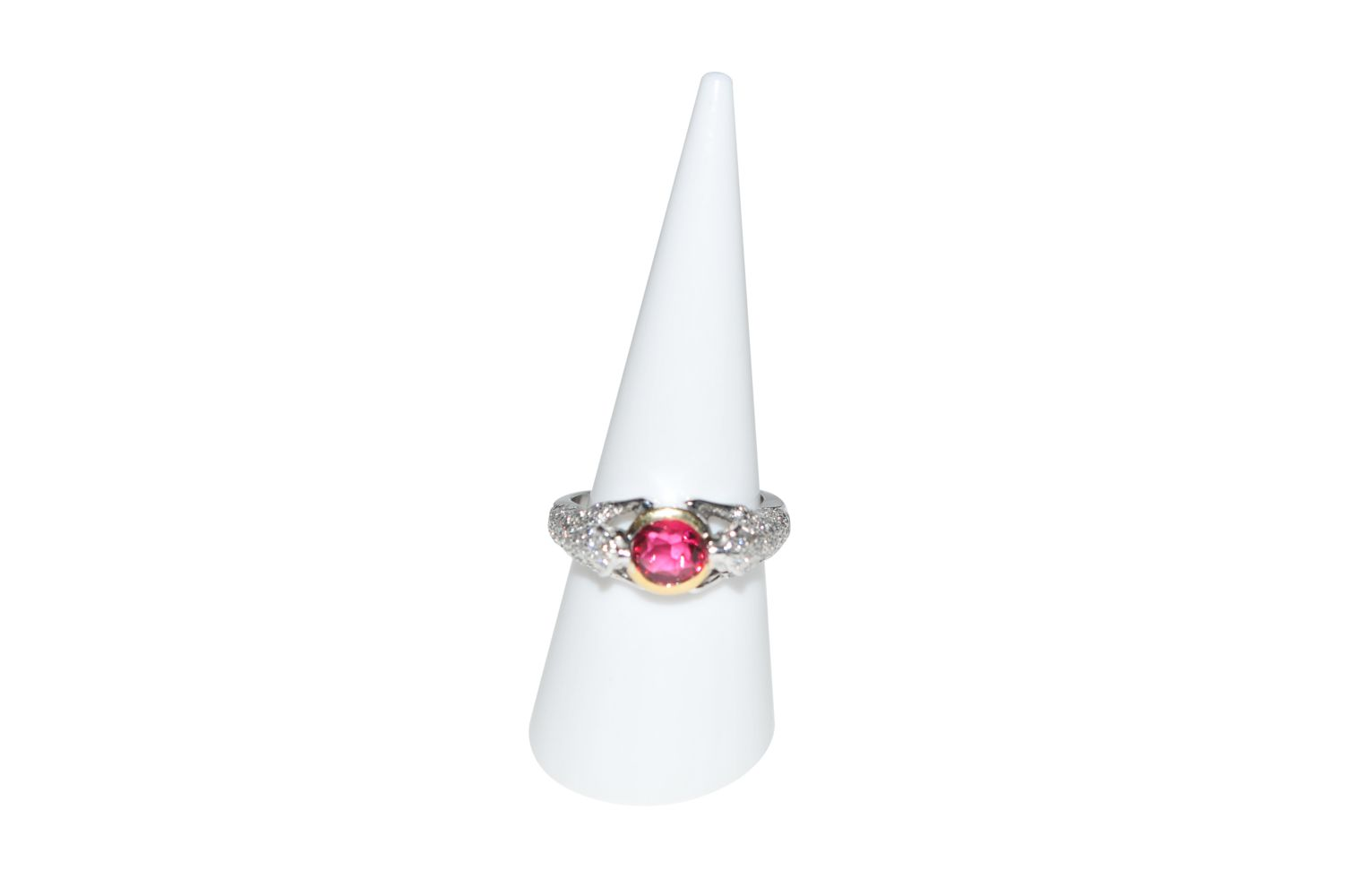 #93 Brilliant ring with tourmaline | Brillantring mit Turmalin Image
