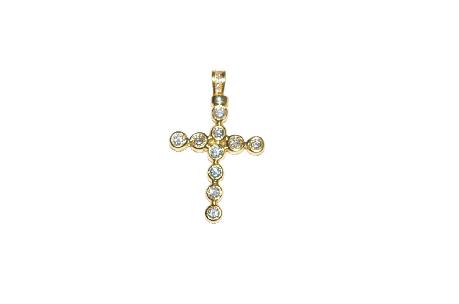 #98 Diamond cross pendant | Diamant-Kreuz-Anhänger Image