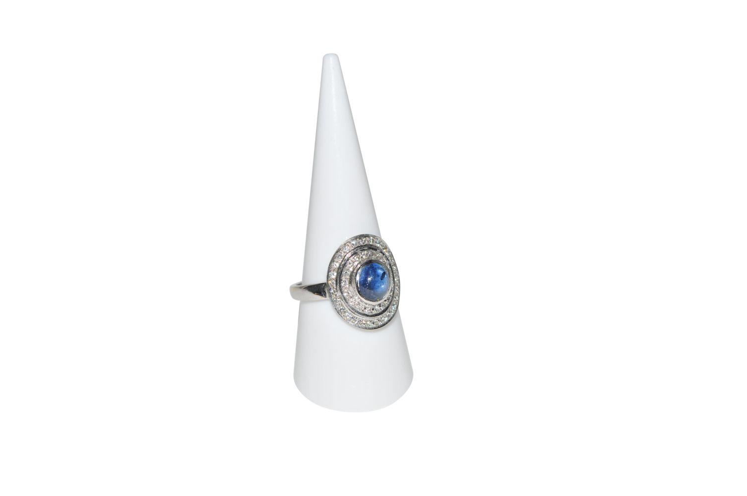 #99 Brilliant ring with sapphire | Brillantring mit Saphir Image