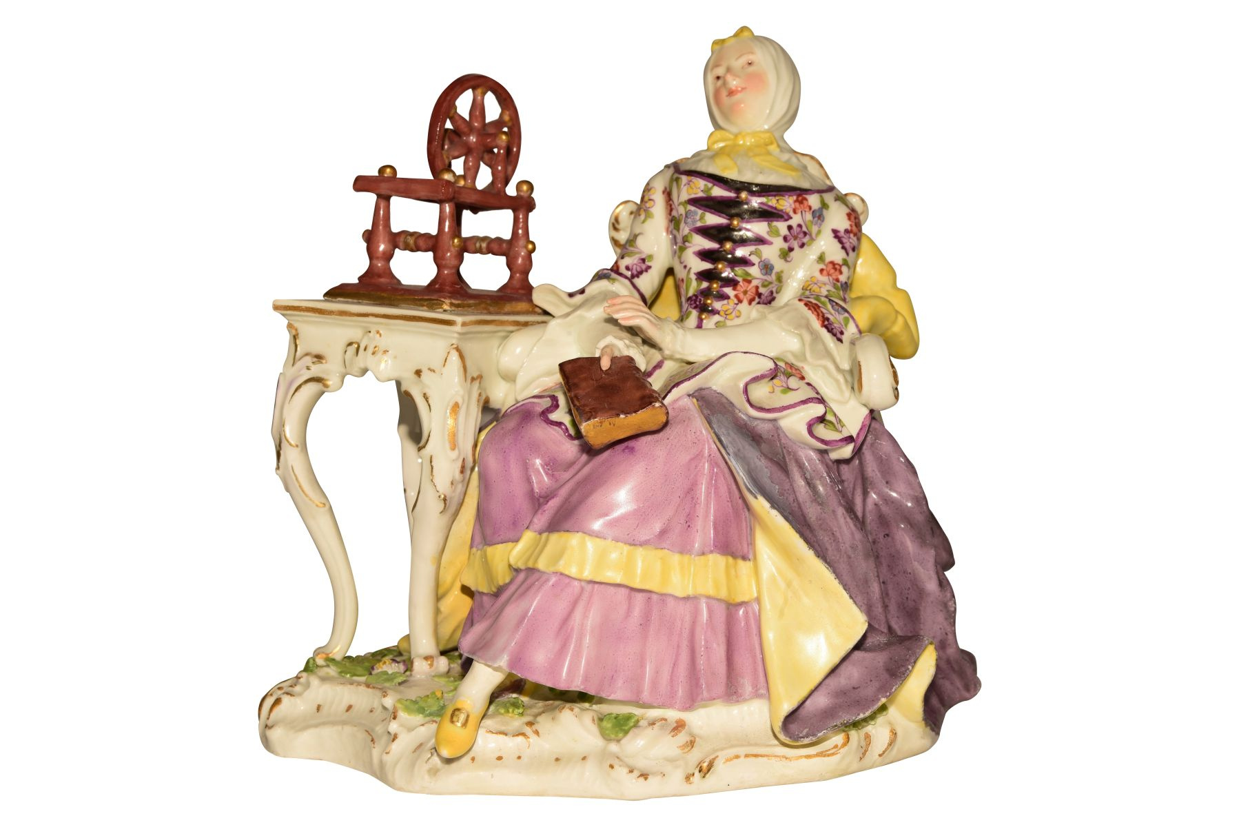 #116 Lady with Spinning Wheel Meissen around 1750 | Image