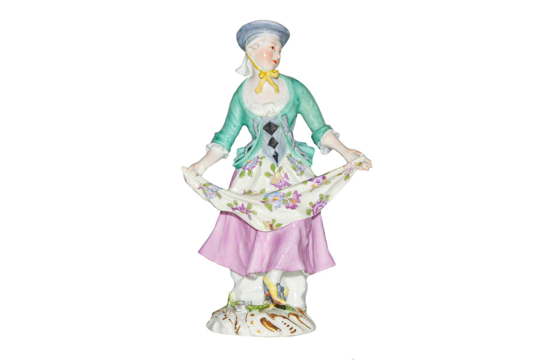 #137 Dancing Tyrolean Meissen 1750 |Tanzende Tirolerin Meissen 1750 Image