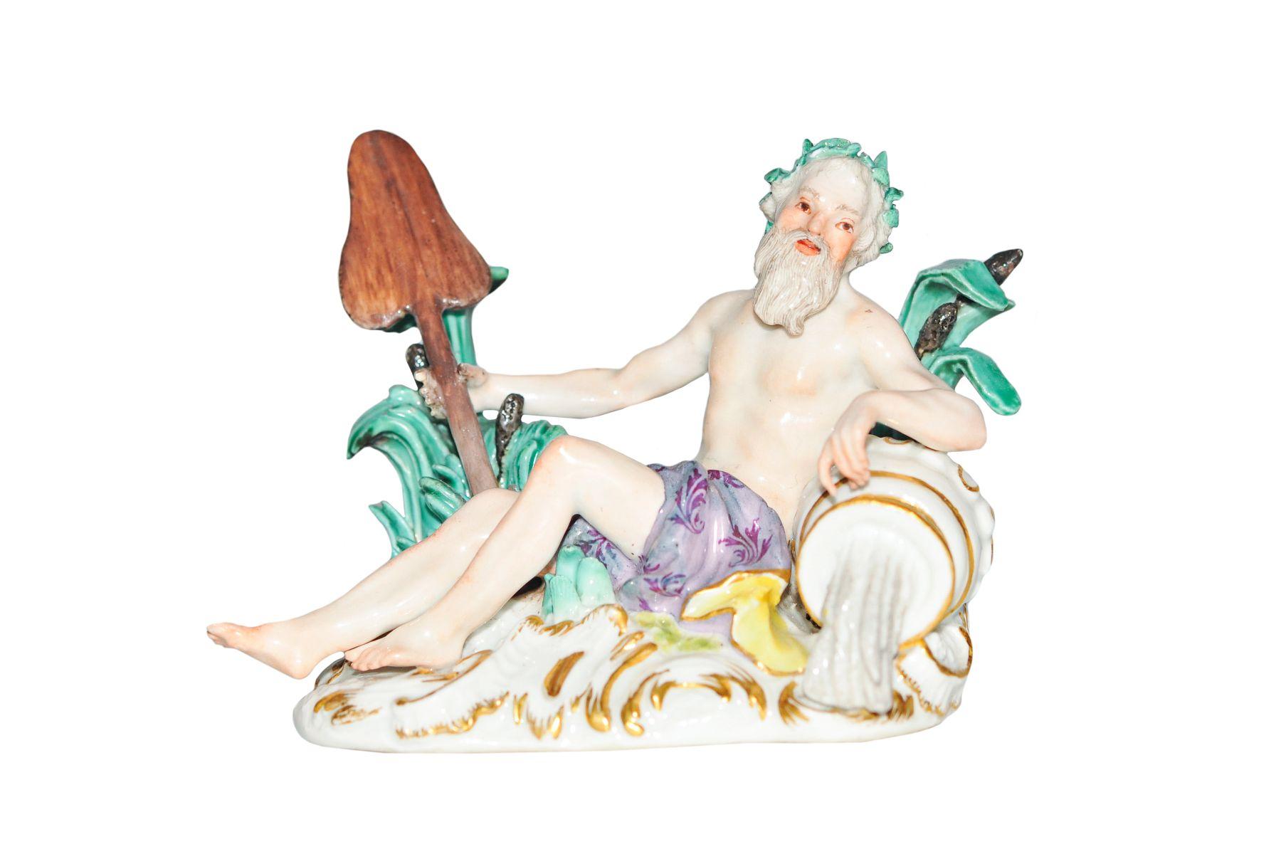 #147 Small figure river god Meissen 1750 | Kleine Figur Flussgott Meissen 1750 Image