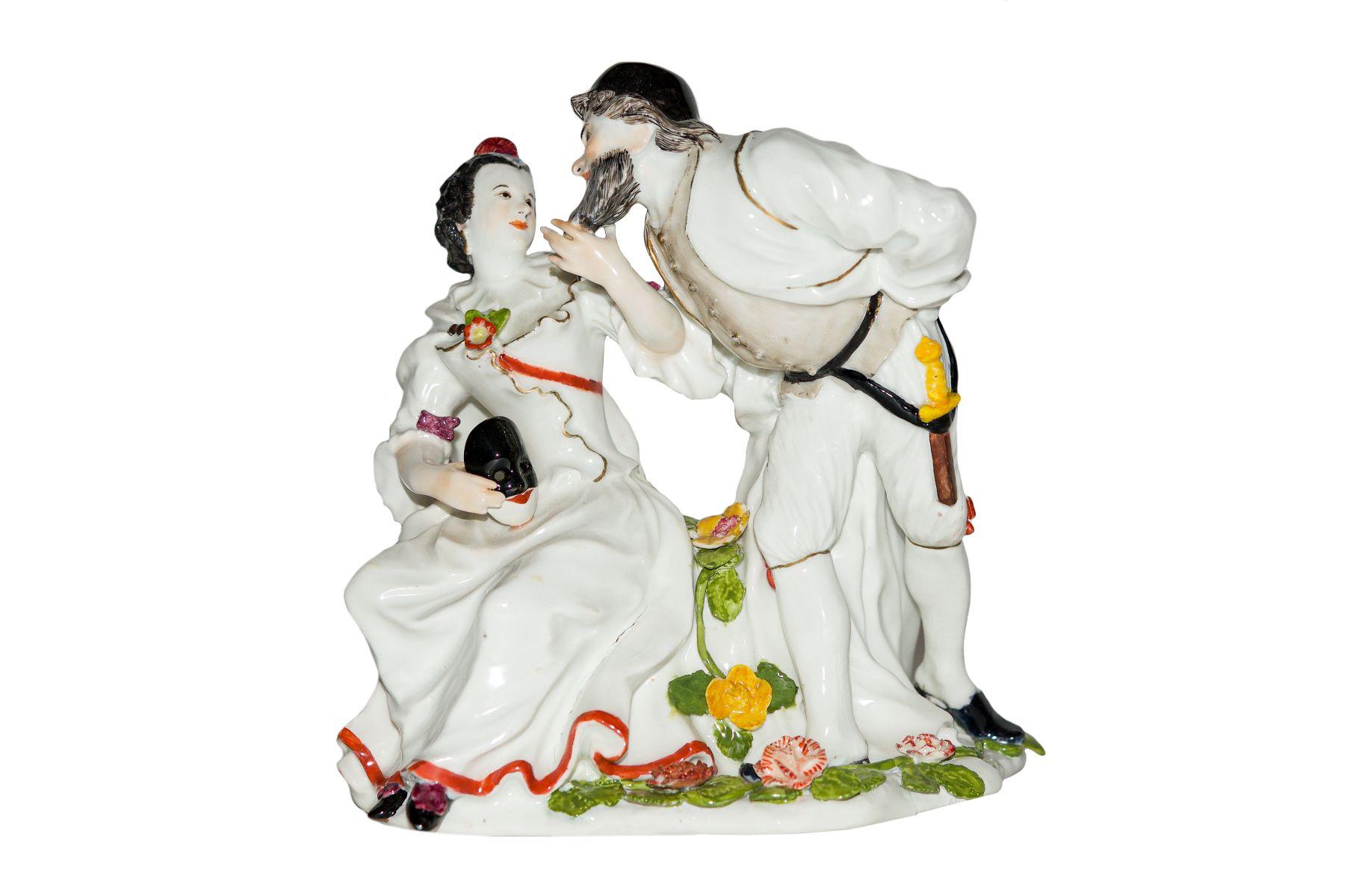 #150 Groupe de comédie de la Commedia dell`Arte, Meissen |Komödiantengruppe aus der Commedia dell`Arte, Meissen Image
