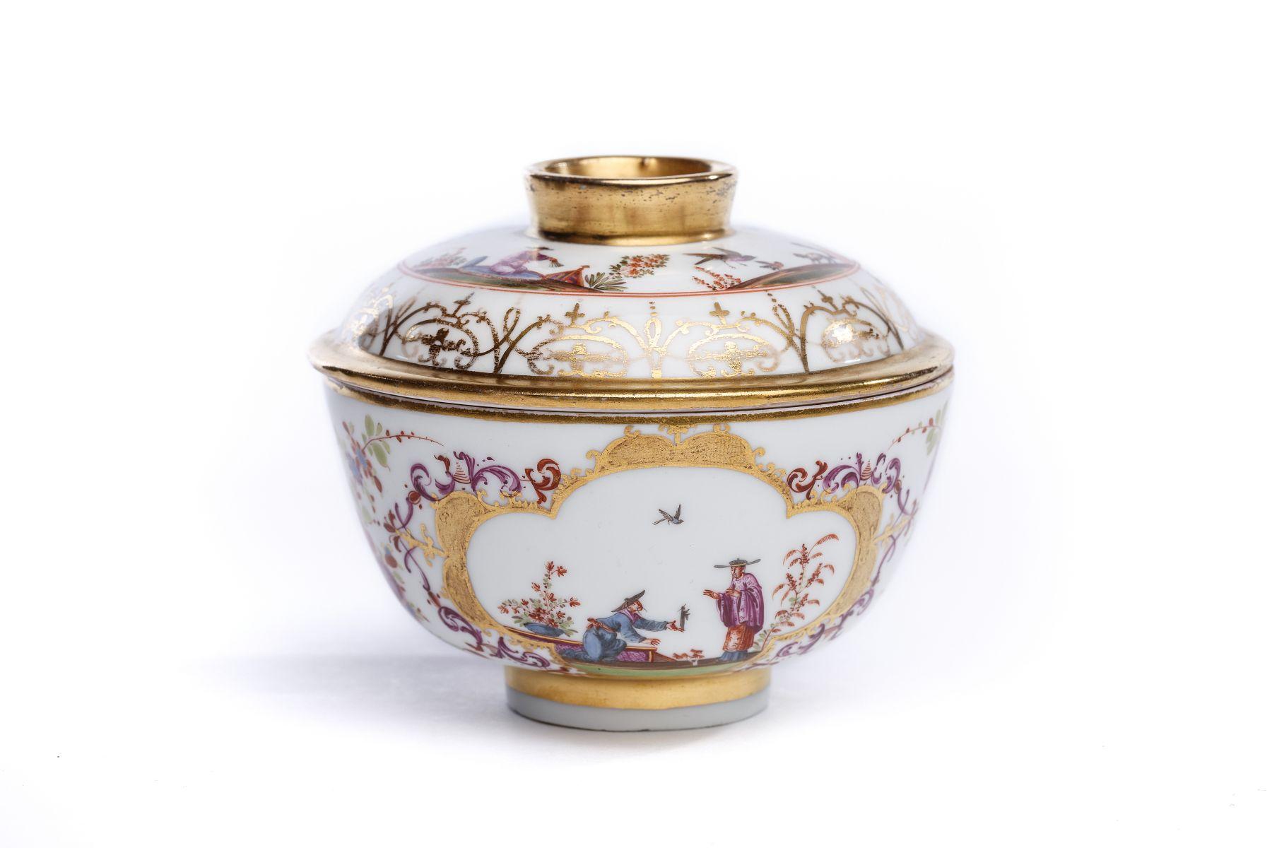 #16 Rice bowl, Meissen 1725/30 | Reisschale mit Deckel, Meissen 1725/30 Image