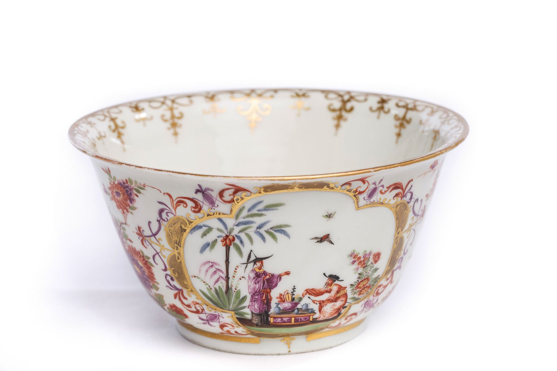"#2 Rare bowl with ""Chinoiserie"" scenes, Meissen 1720/30 