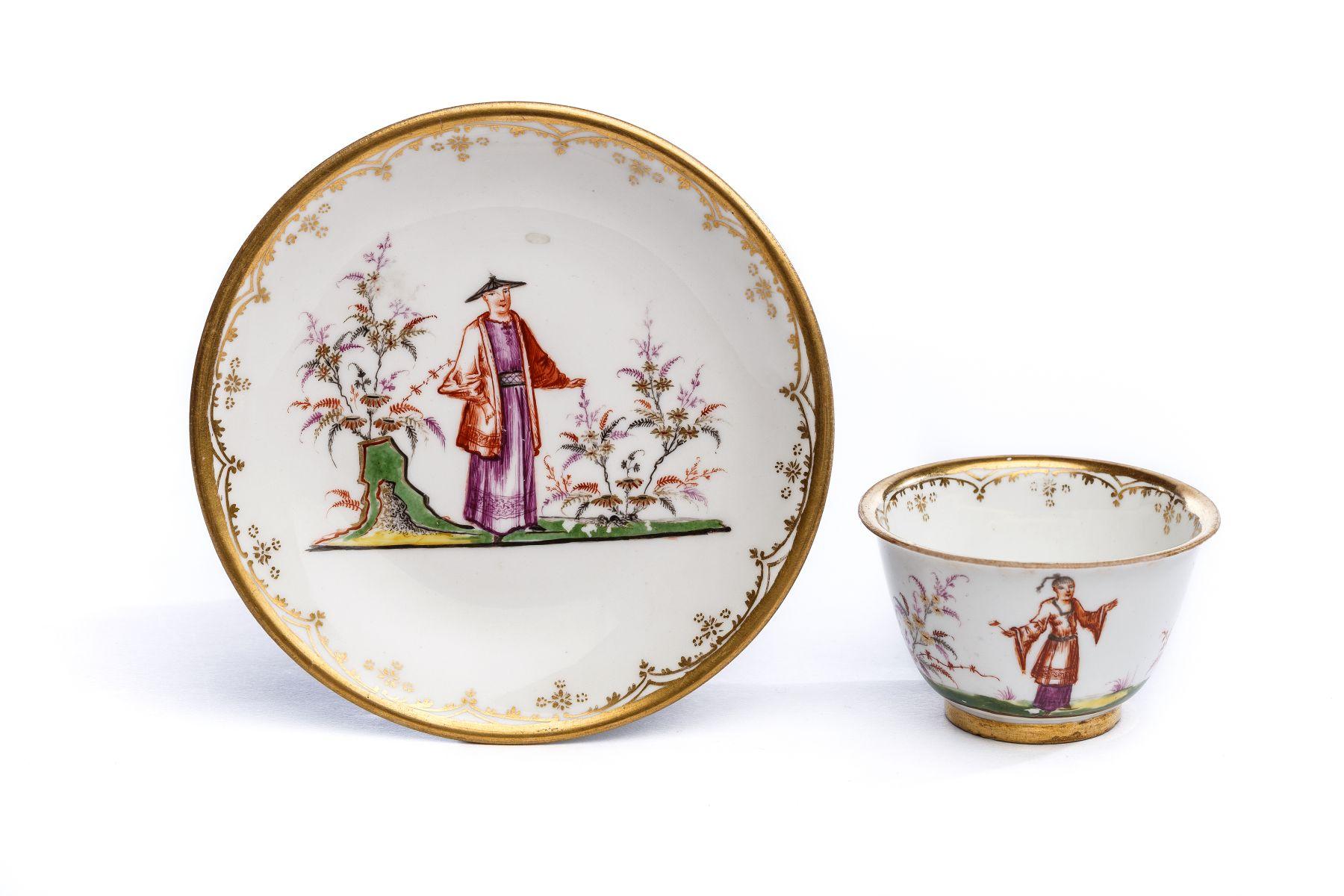 #24 Bowl with saucer, Meissen 1720-25 | Koppchen mit Unterschale, Meissen 1720-25 Image