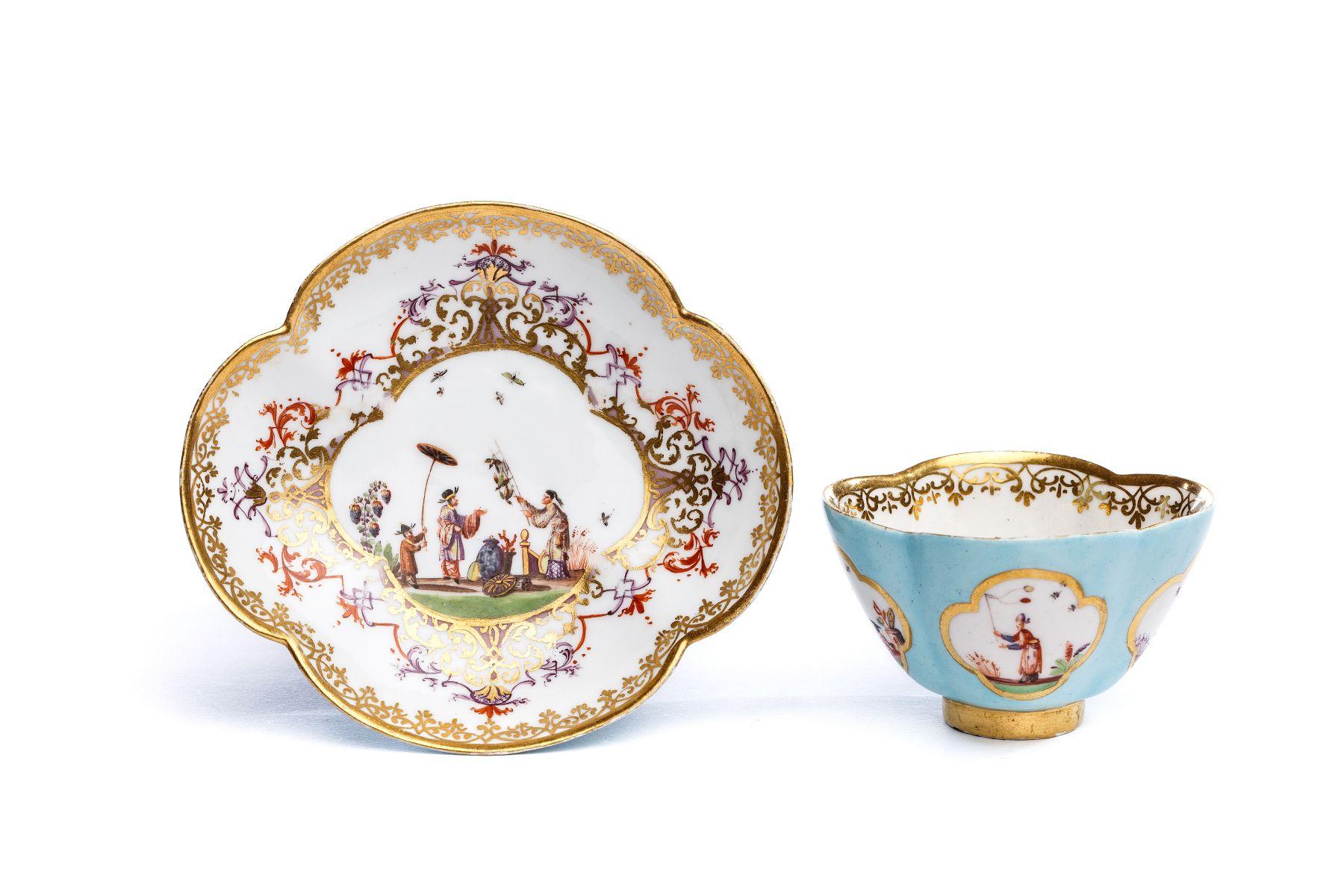 #27 Bowl with saucer, Meissen 1720/30 | Koppchen mit Unterschale, Meissen 1720/30 Image