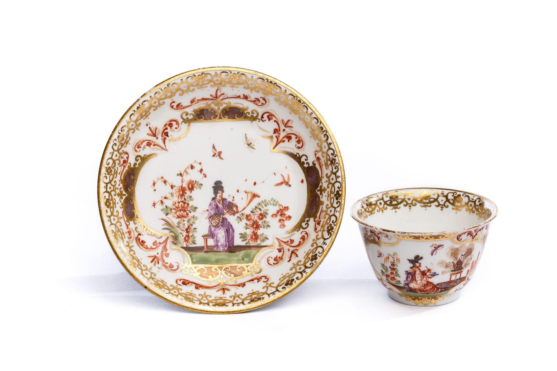 #35 Bowl with saucer, Meissen 1725 | Koppchen mit Unterschale, Meissen 1725 Image