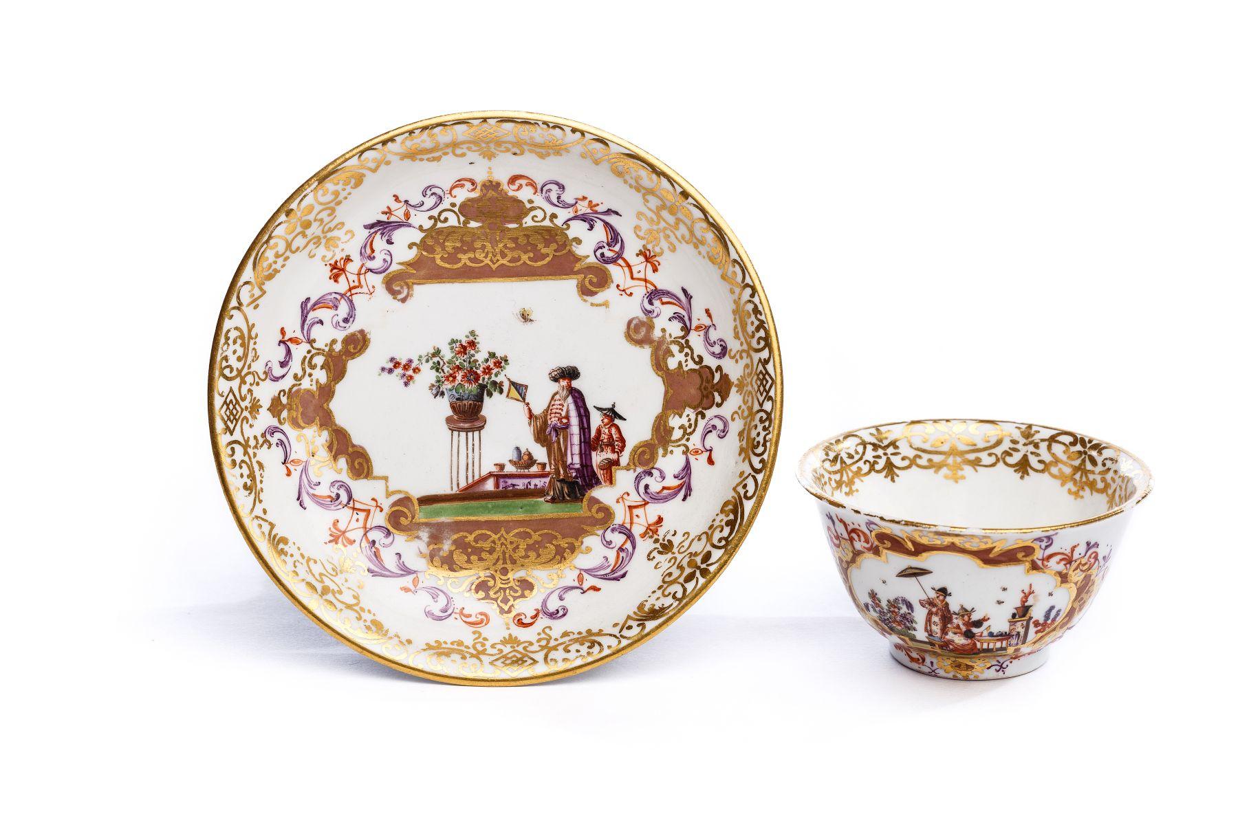 #37 Bowl with saucer, Meissen 1725 | Koppchen mit Unterschale, Meissen 1725 Image