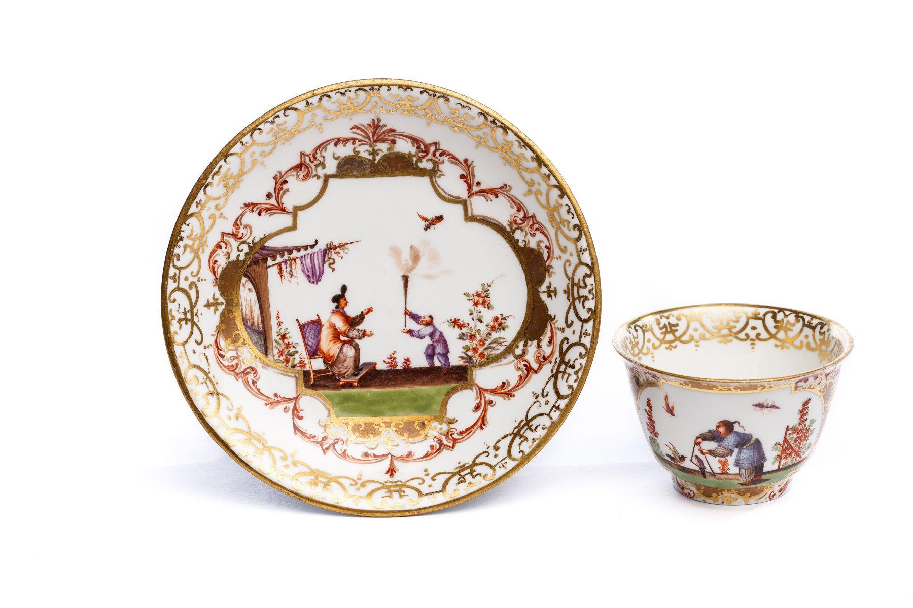 #40 Bowl with saucer, Meissen 1720/25 | Koppchen mit Unterschale, Meissen 1720/25 Image