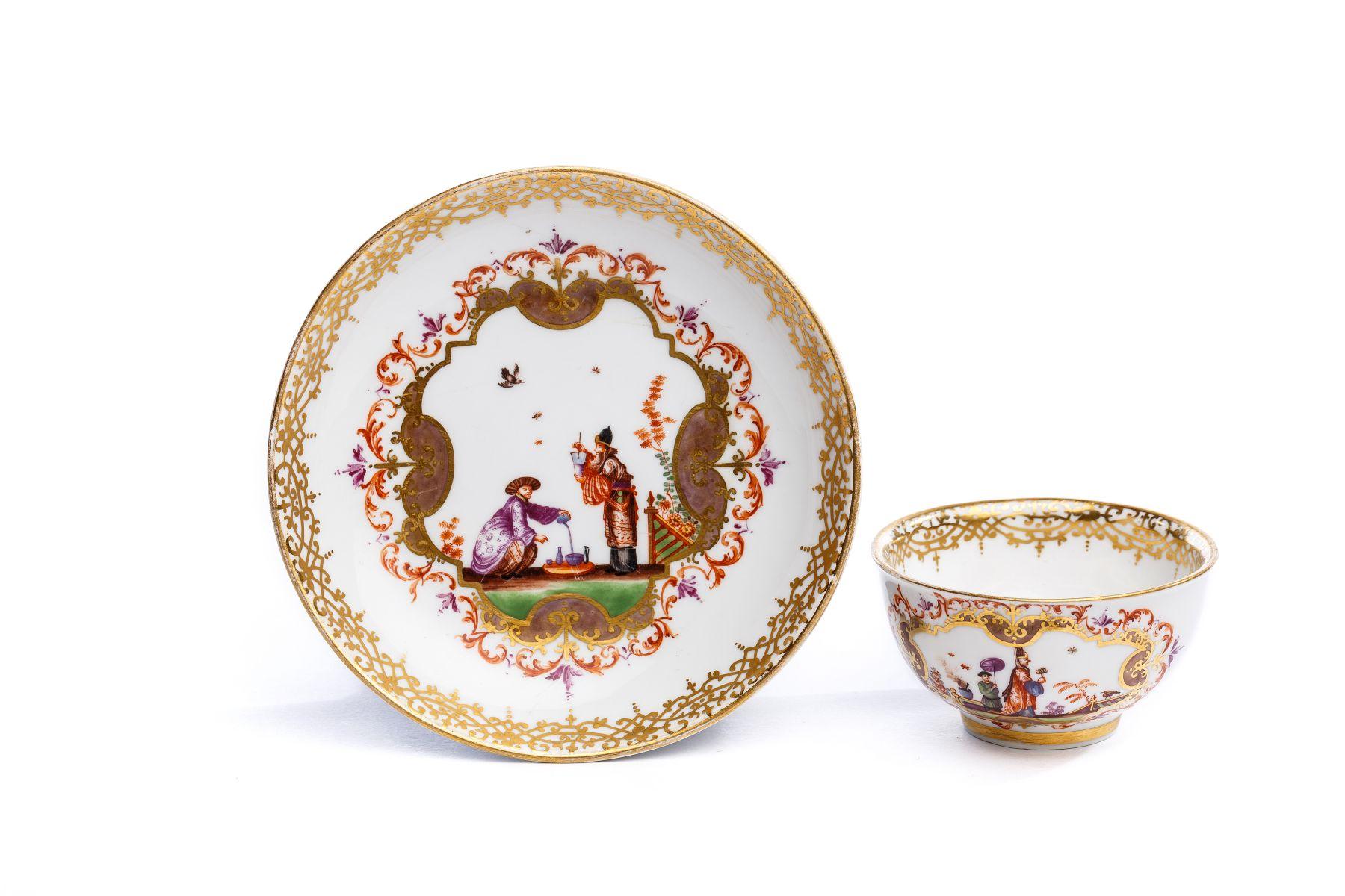 #43 Bowl with saucer, Meissen 1723/25 | Koppchen mit Unterschale, Meissen 1723/25 Image