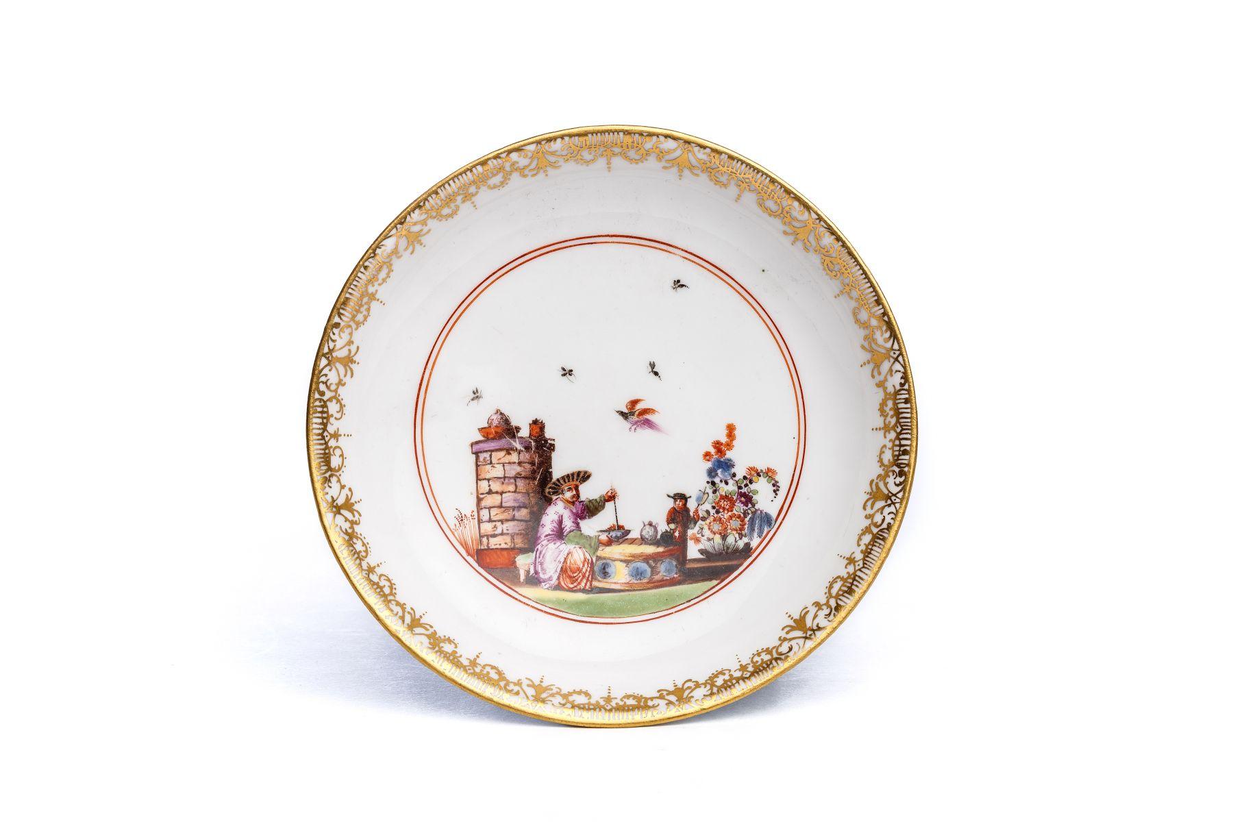 #49 Small saucer, Meissen 1740   Kleine Unterschale, Meissen 1740, The Hoffmeister Collection Image