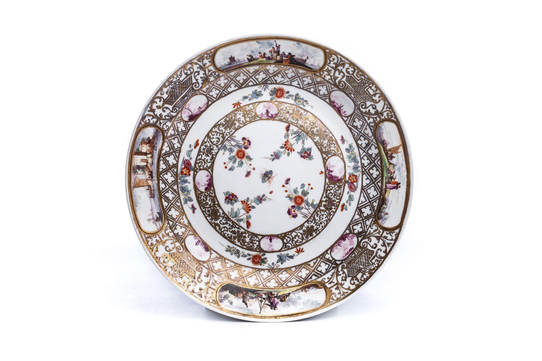#50 Small splendor plate, Meissen 1730/35   Kleine Prunkplatte, Meissen 1730/35 Image