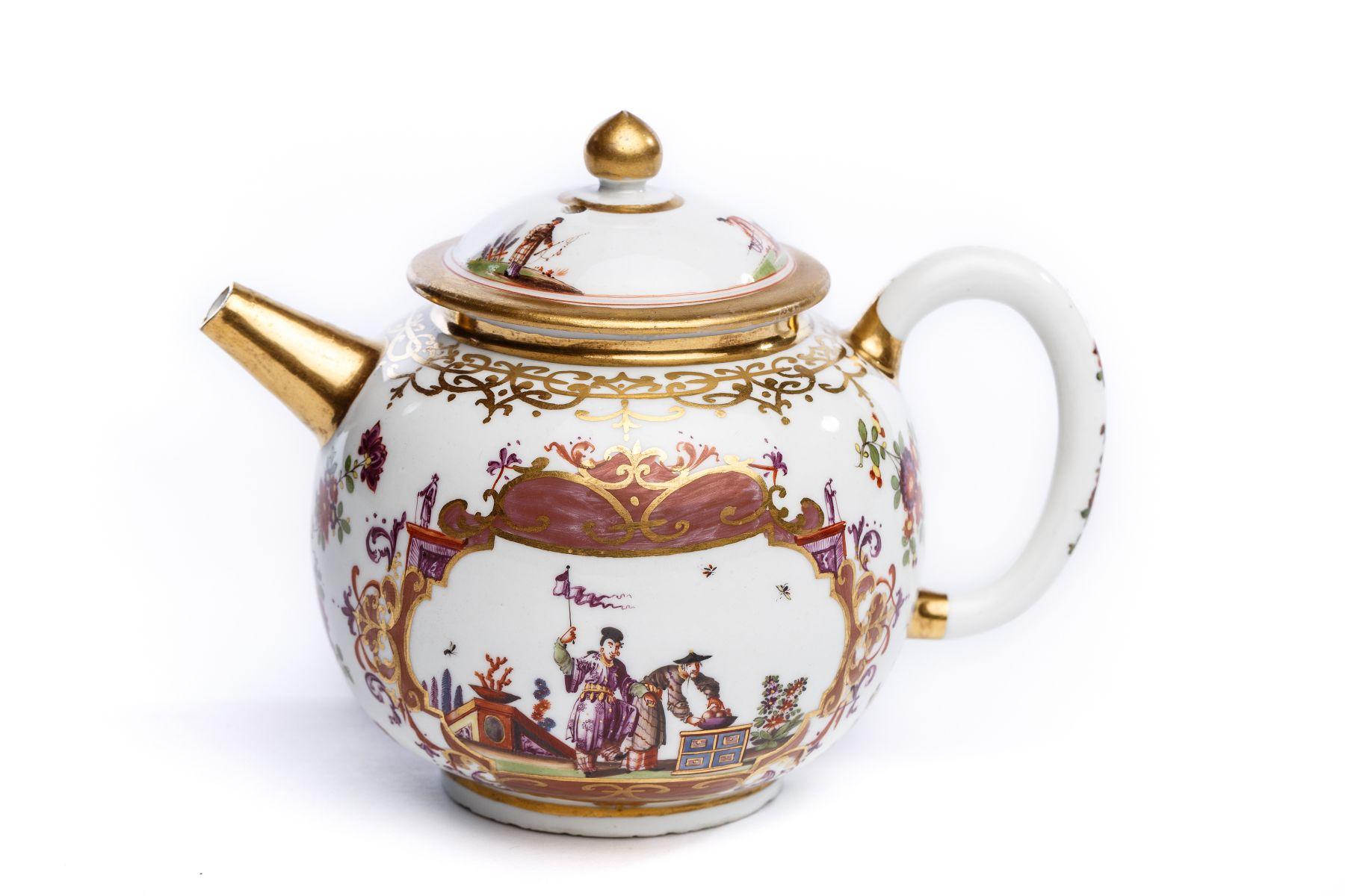 #56 Rare teapot, Meissen 1723/24 | Teekanne, Meissen 1723/24 Image