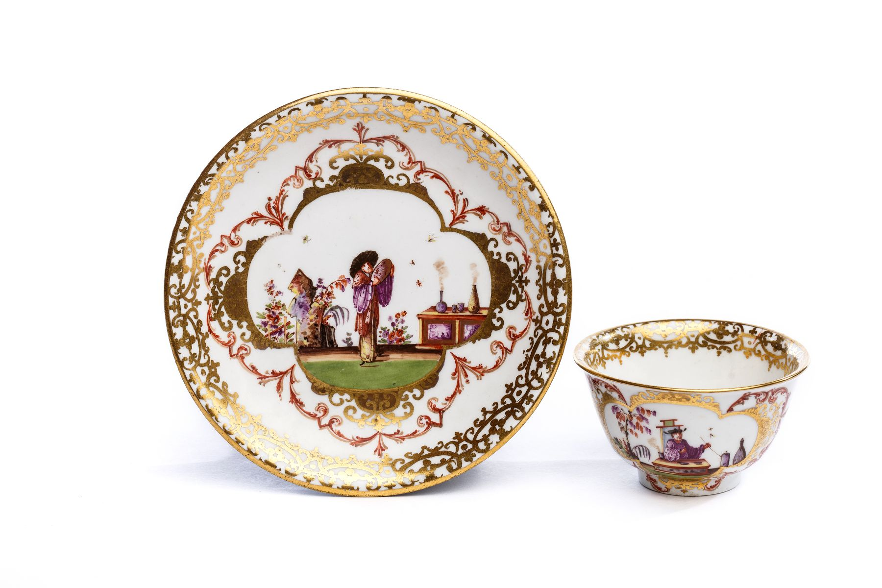 #66 Bowl with saucer, Meissen 1723/25 | Koppchen mit Unterschale, Meissen 1723/25 Image