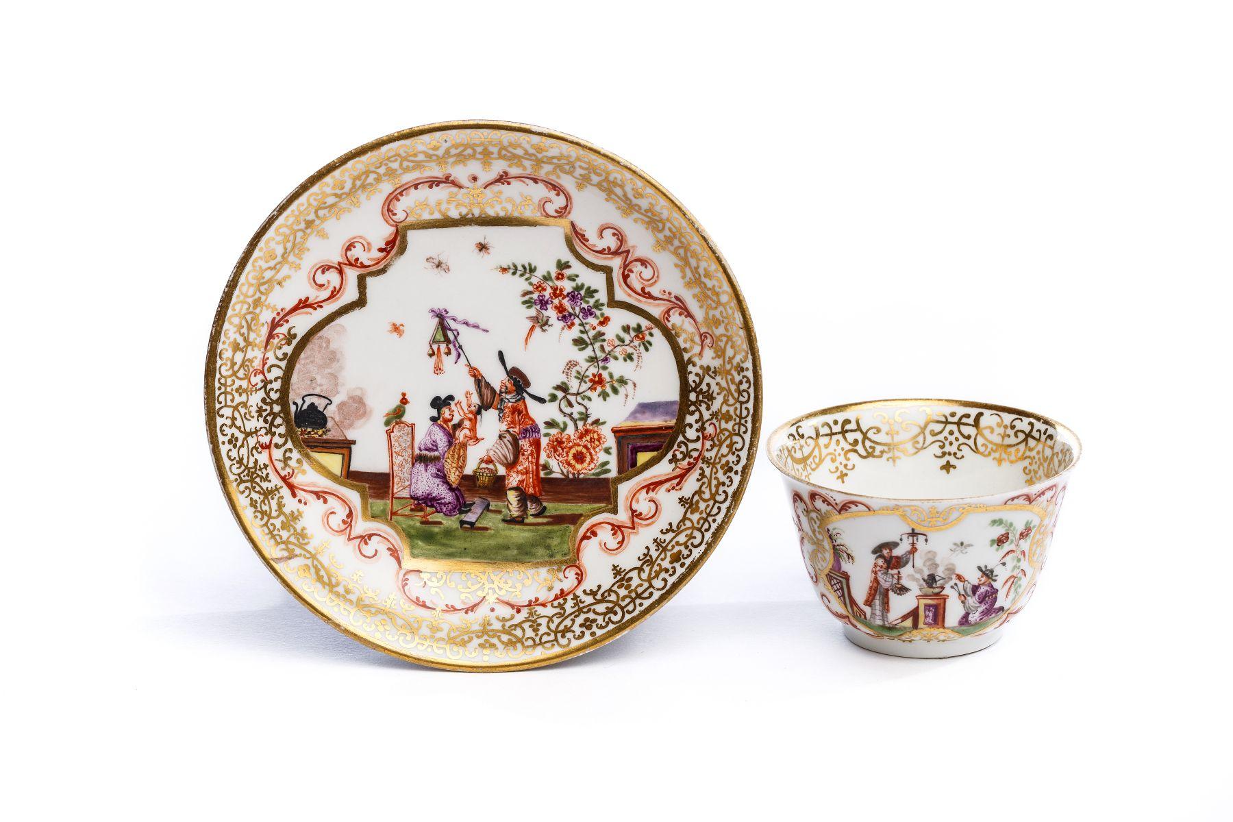 #69 Bowl with saucer, Meissen 1725 | Koppchen mit Unterschale, Meissen 1725 Image