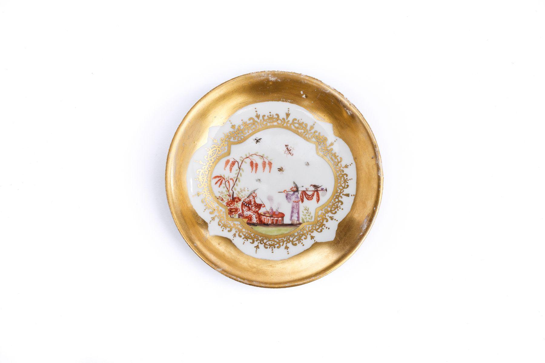 #8 Small saucer, Meissen 1730/35 | Kleine Unterschale, Meissen 1730/35 Image