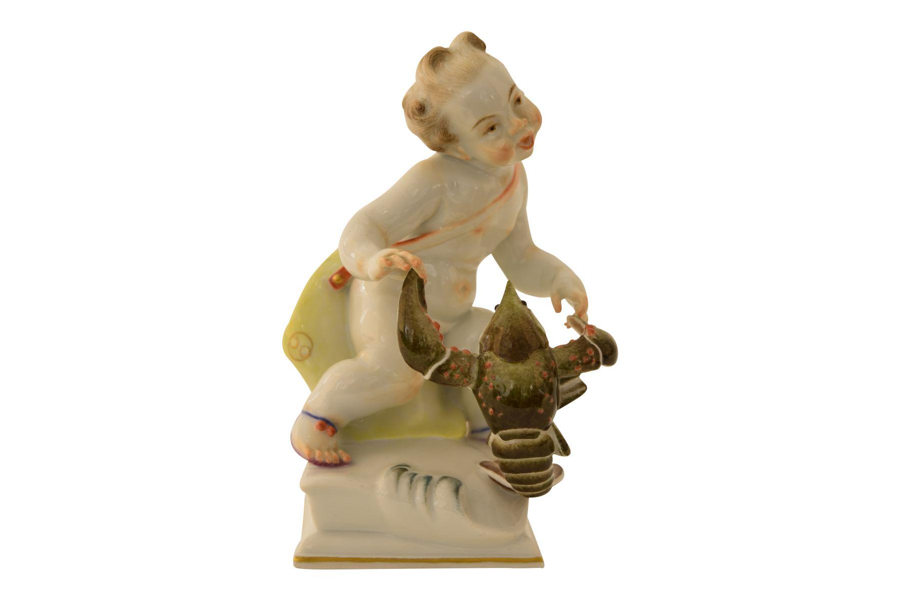 """#87 Meissen figure """"Cancer zodiac sign""""   Meissen Figur """"Sternzeichen Krebs"""" Image"""