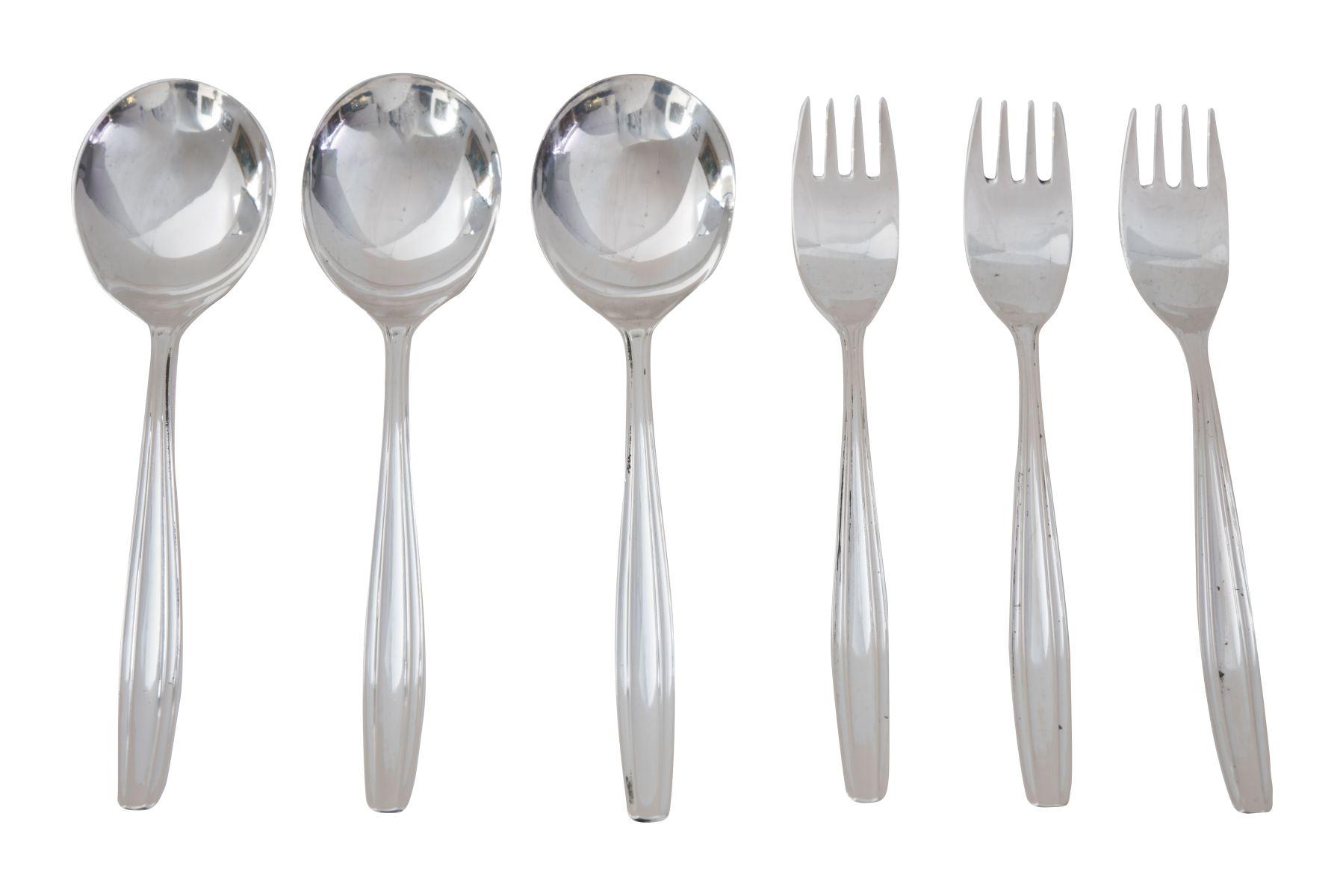 #103 Dessert forks and Bouillon spoon | Dessertgabeln und Bouillionlöffel Image