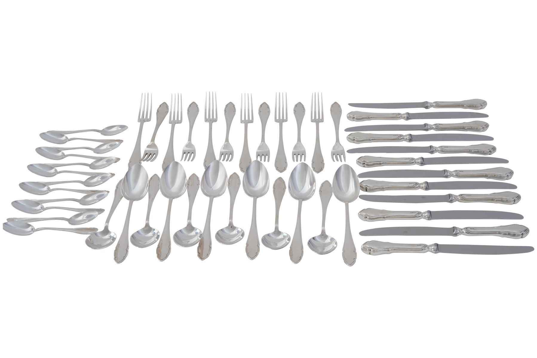 #108 48 piece silver table cutlery | 48 teiliges Tafelbesteck Silber Image