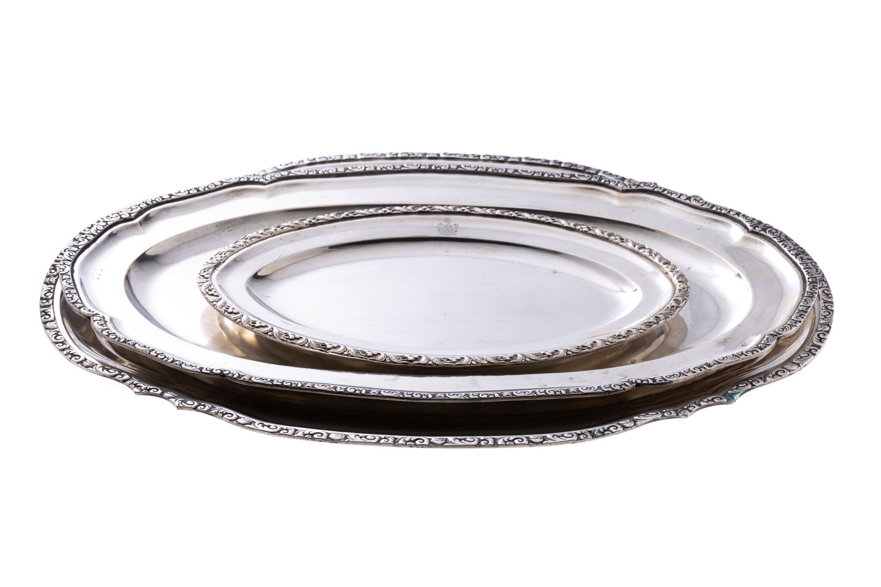 #16 Convolute of silver plates | Konvolut aus Silberplatten Image