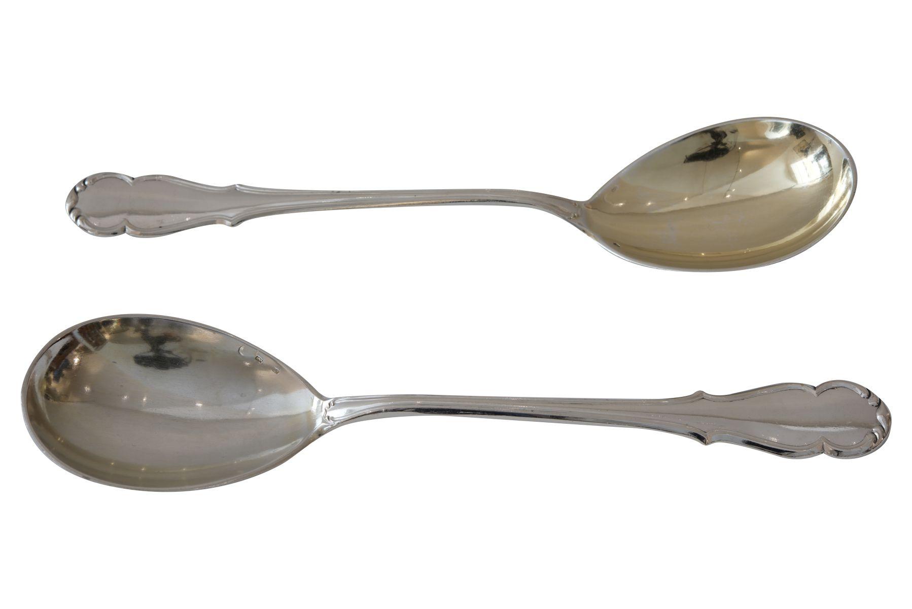 #45 Sauce spoons | Zwei Saucenlöffel Silber Image