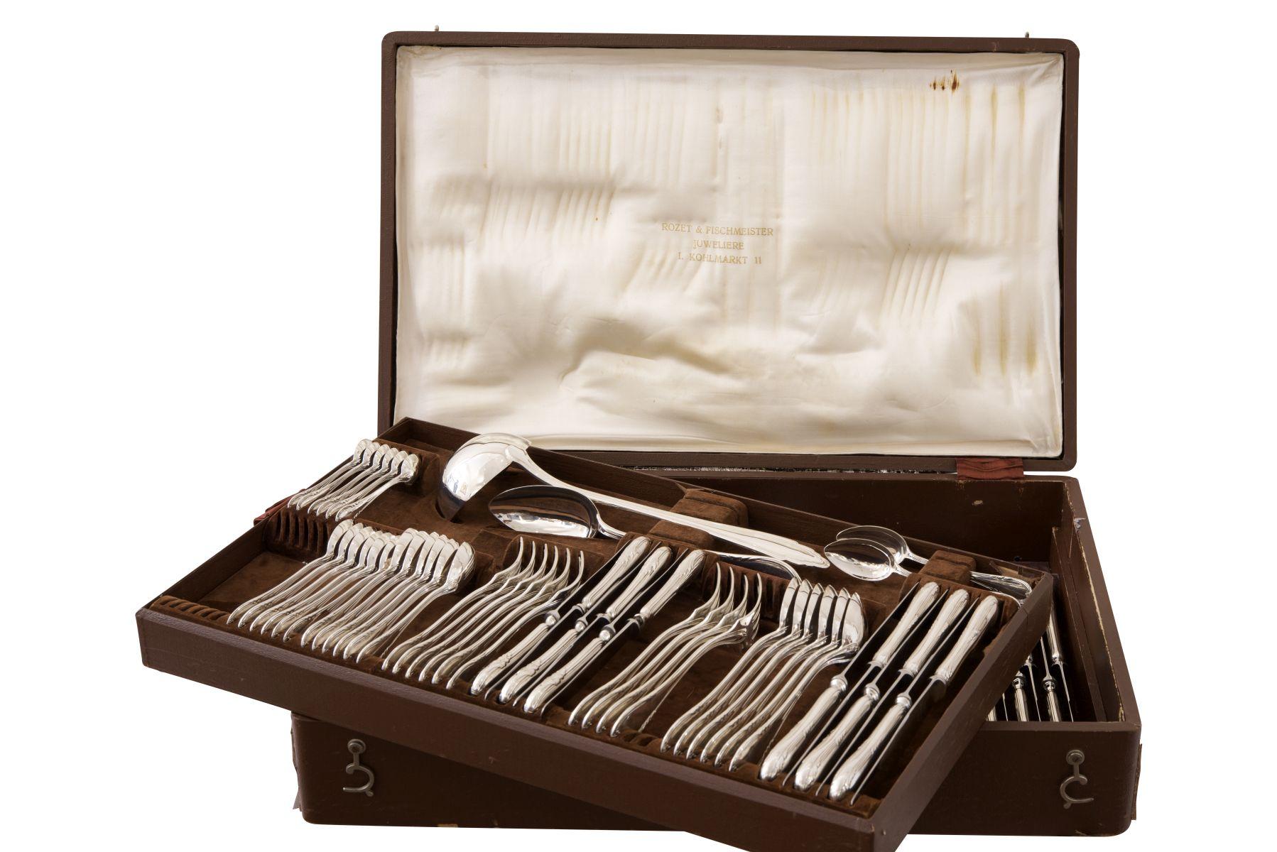#67 Cutlery silver | Besteck im Kasten Silber 800/fein Image