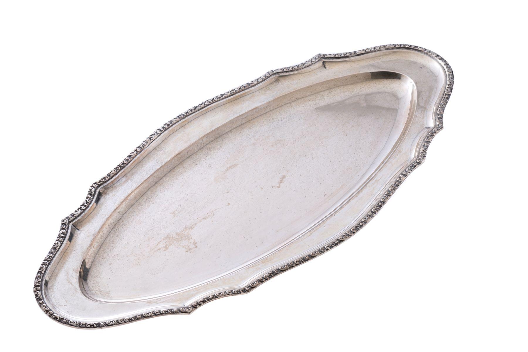 #96 Silver fish plate | Silberne Fischplatte Image