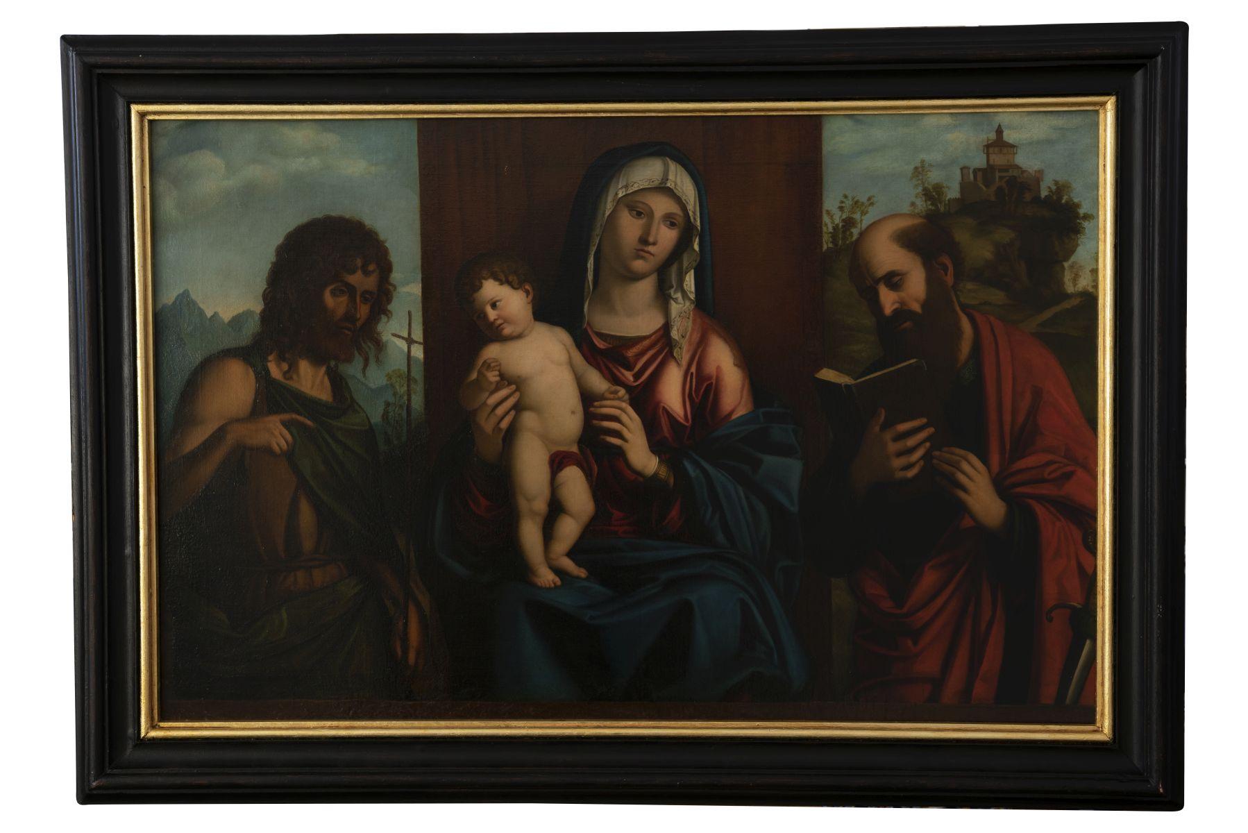 "#120 Giovanni Battista Cima Successor ""Madonna and Child, St. Paul and John the Baptist"" | Giovanni Battista Cima Nachfolger ""Madonna mit Kind, dem Hl. Paulus und Johannes der Täufer"" Image"