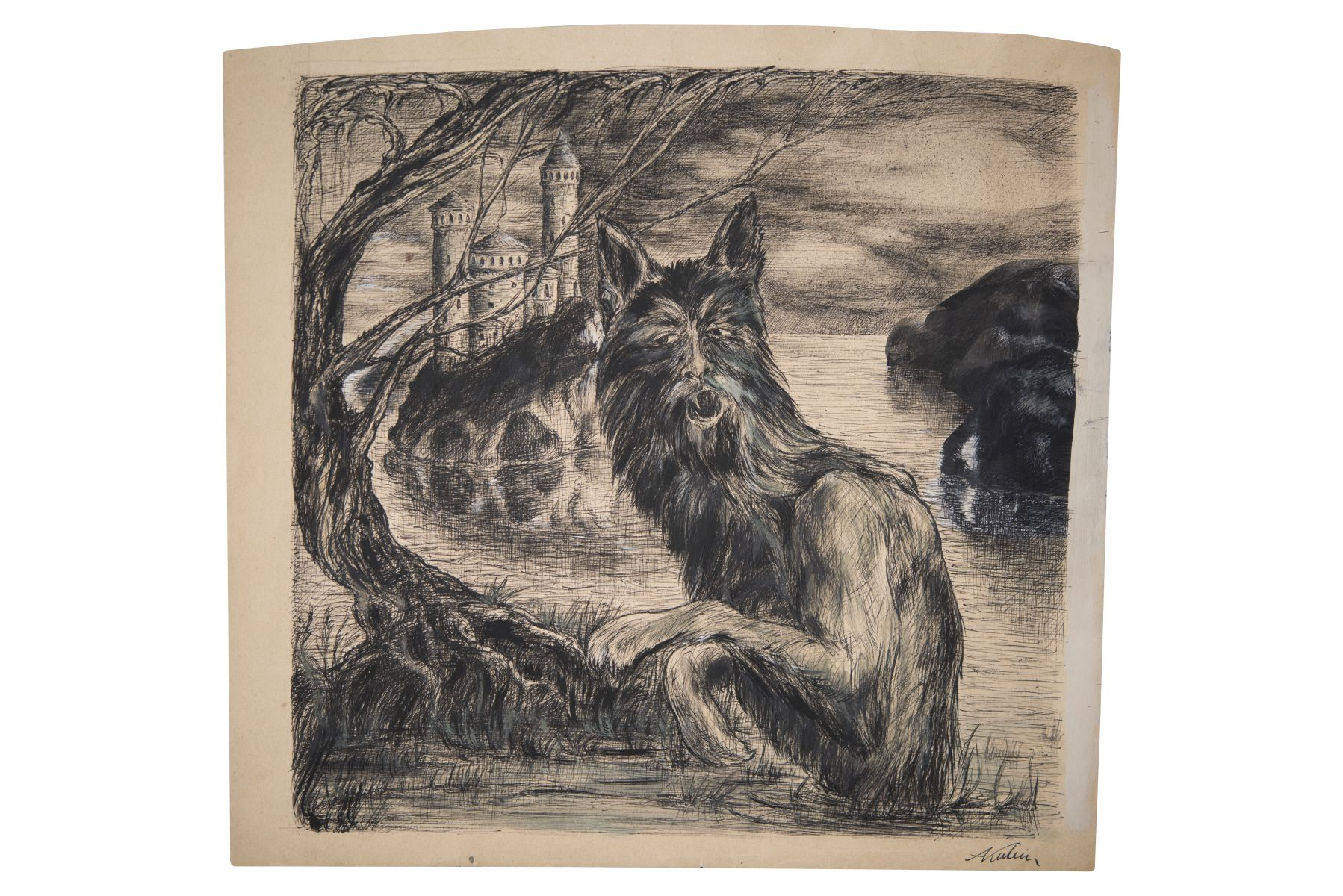"#125 Alfred Kubin ""Indian ink drawing"" 