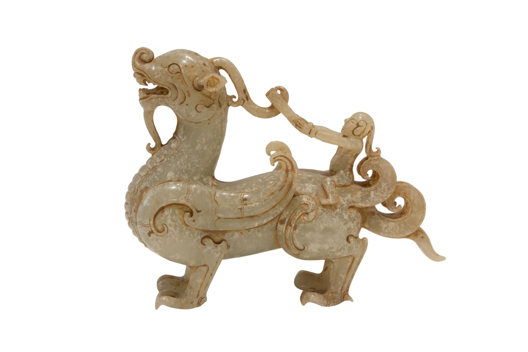 #136 Mythical animal jade 20th century | Fabeltier Jade 20. Jh Image