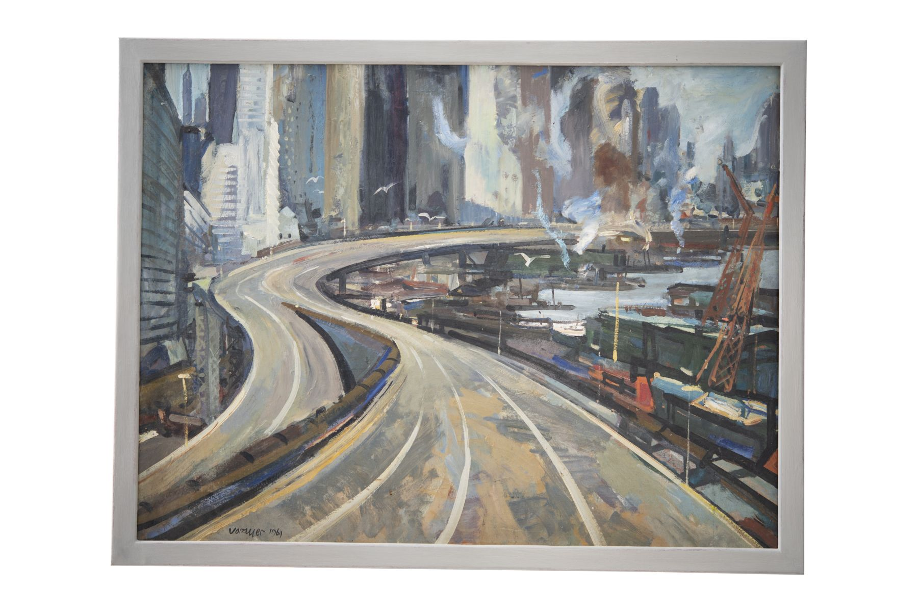 "#157 Anton Vorauer ""Eastriver"" 1961 | Anton Vorauer ""East River"" 1961 Image"