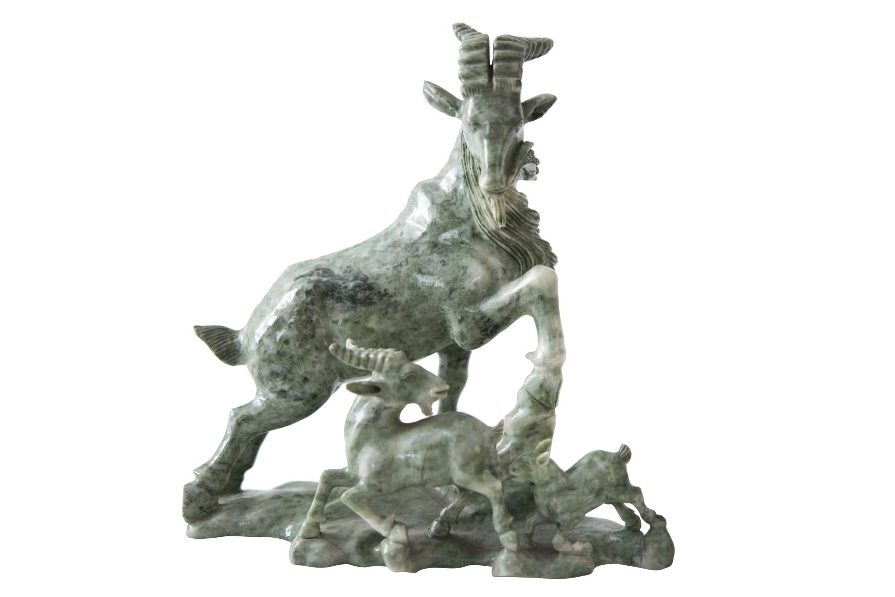 "#170 Goat with Young China, Qing Dynasty, 19th century. | ""Ziege mit Jungen"" China, Qing-Dynastie, 19 Jh.  Image"