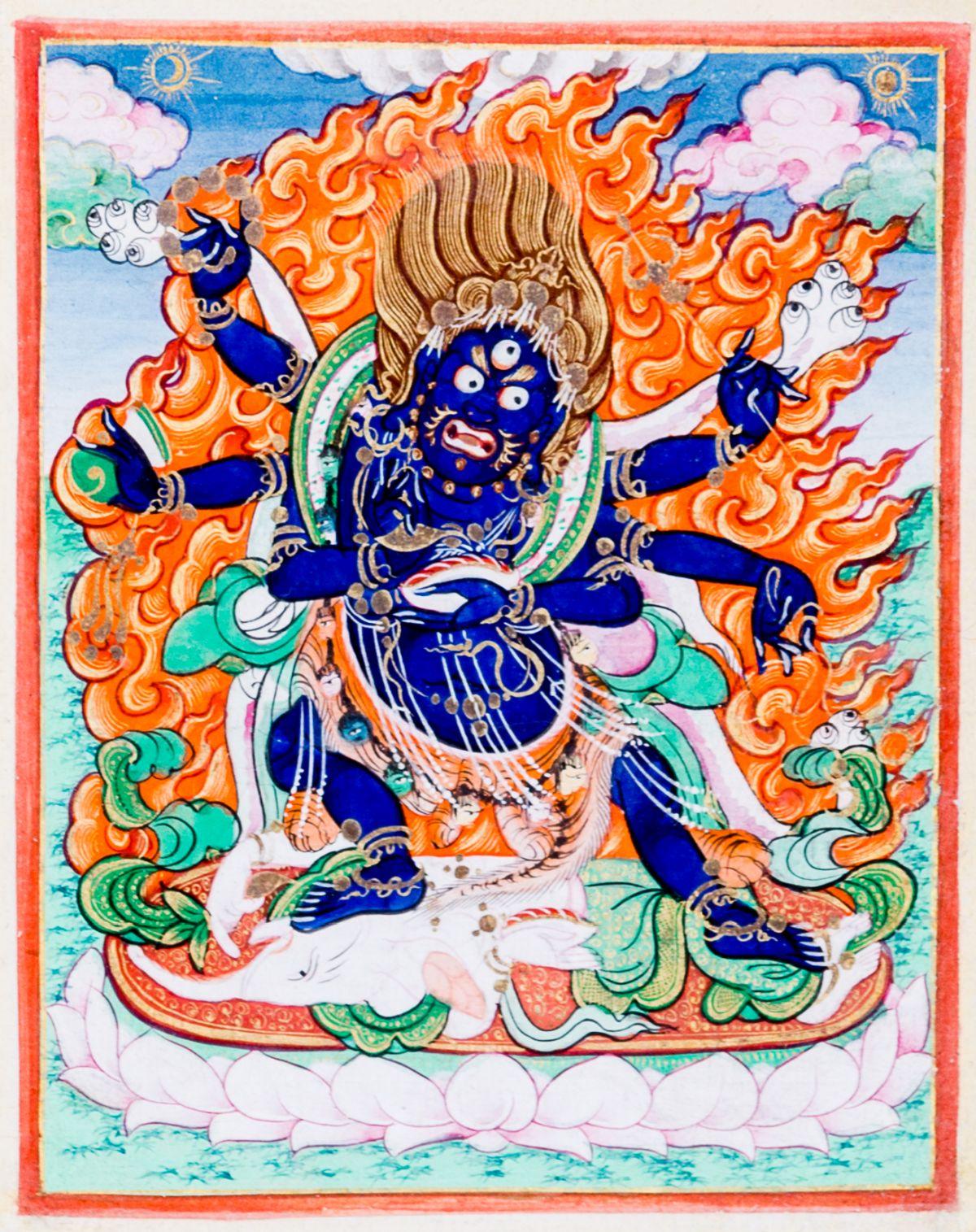 #193 The protective Deity Mahakala | Die Schutzgottheit Mahakala Image