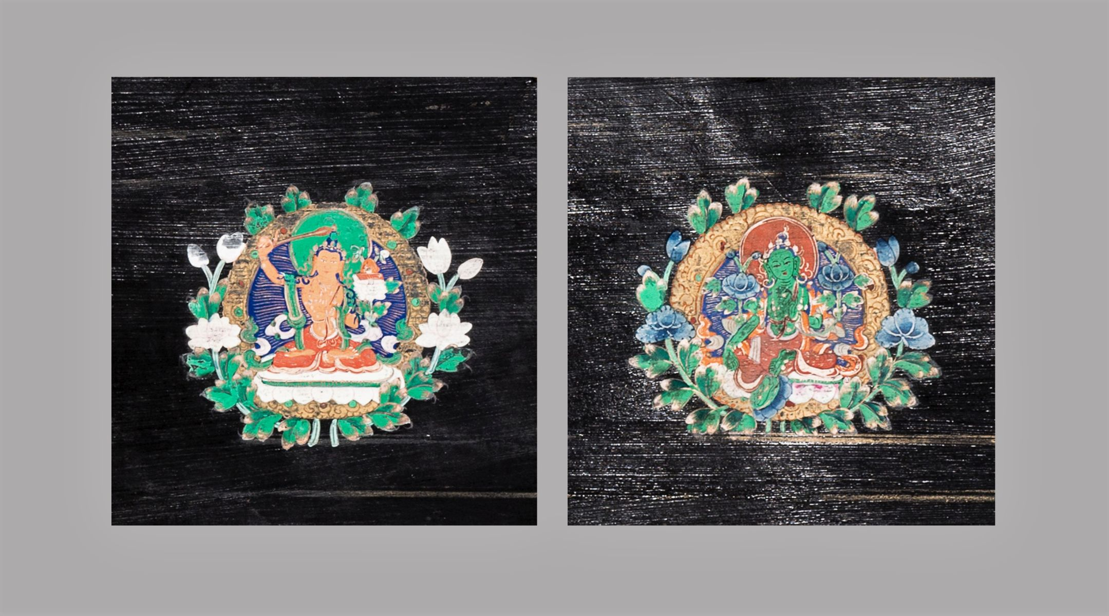 #194 Two Tsakali of Manjushri and Tara | Zwei Tsakali von Manjushri und Tara Image