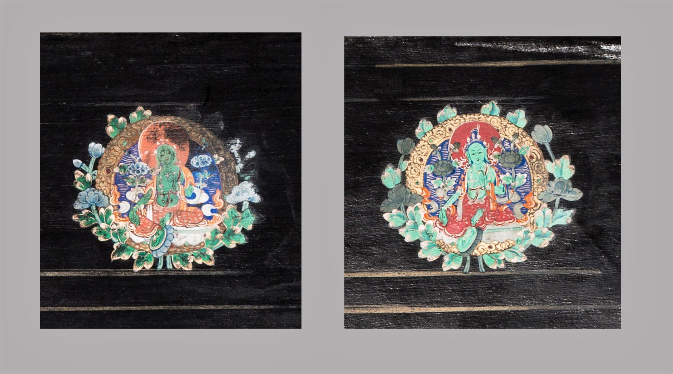 #195 Two Tsakali of green Tara | Zwei Tsakali von grüner Tara Image