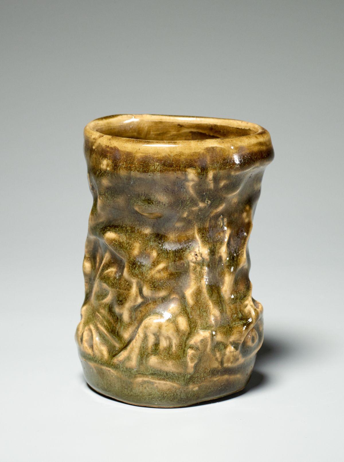 #199 A glazed Oribe cup | Ein glasierter Oribe-Becher Image